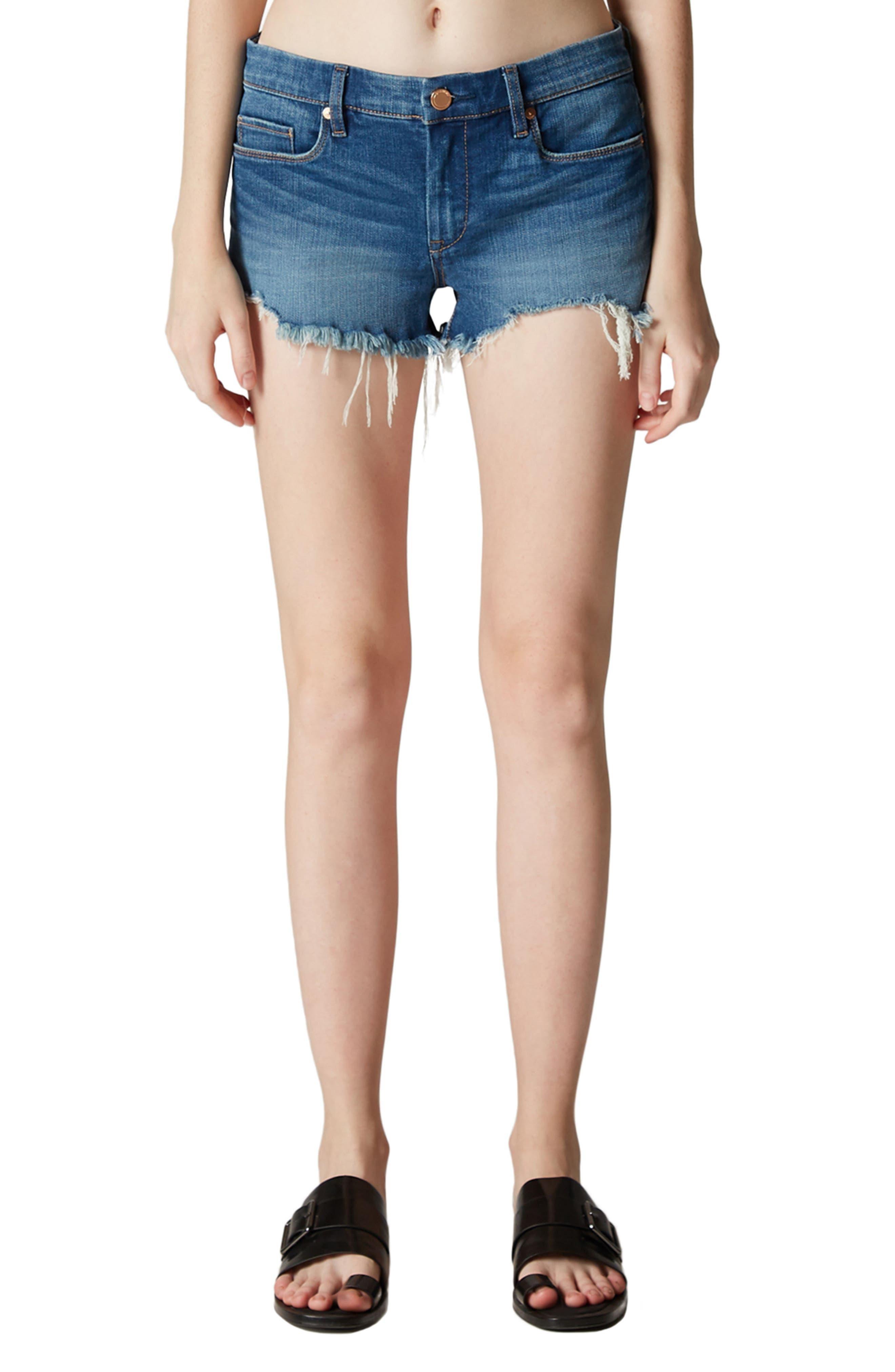 Push Play Cutoff Denim Shorts,                         Main,                         color, 400