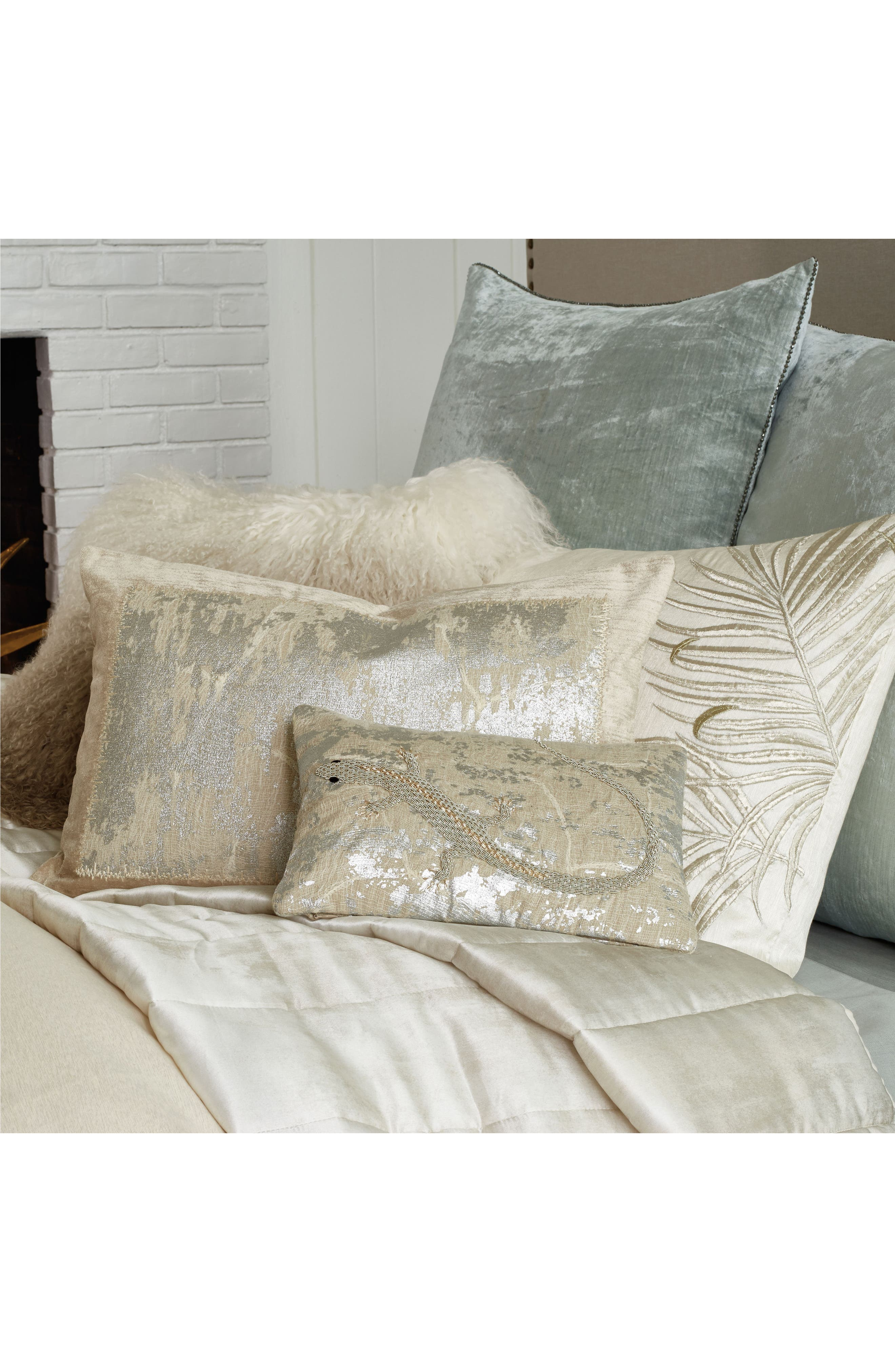 MICHAEL ARAM,                             Lizard Embroidered Decorative Pillow,                             Alternate thumbnail 2, color,                             SILVER