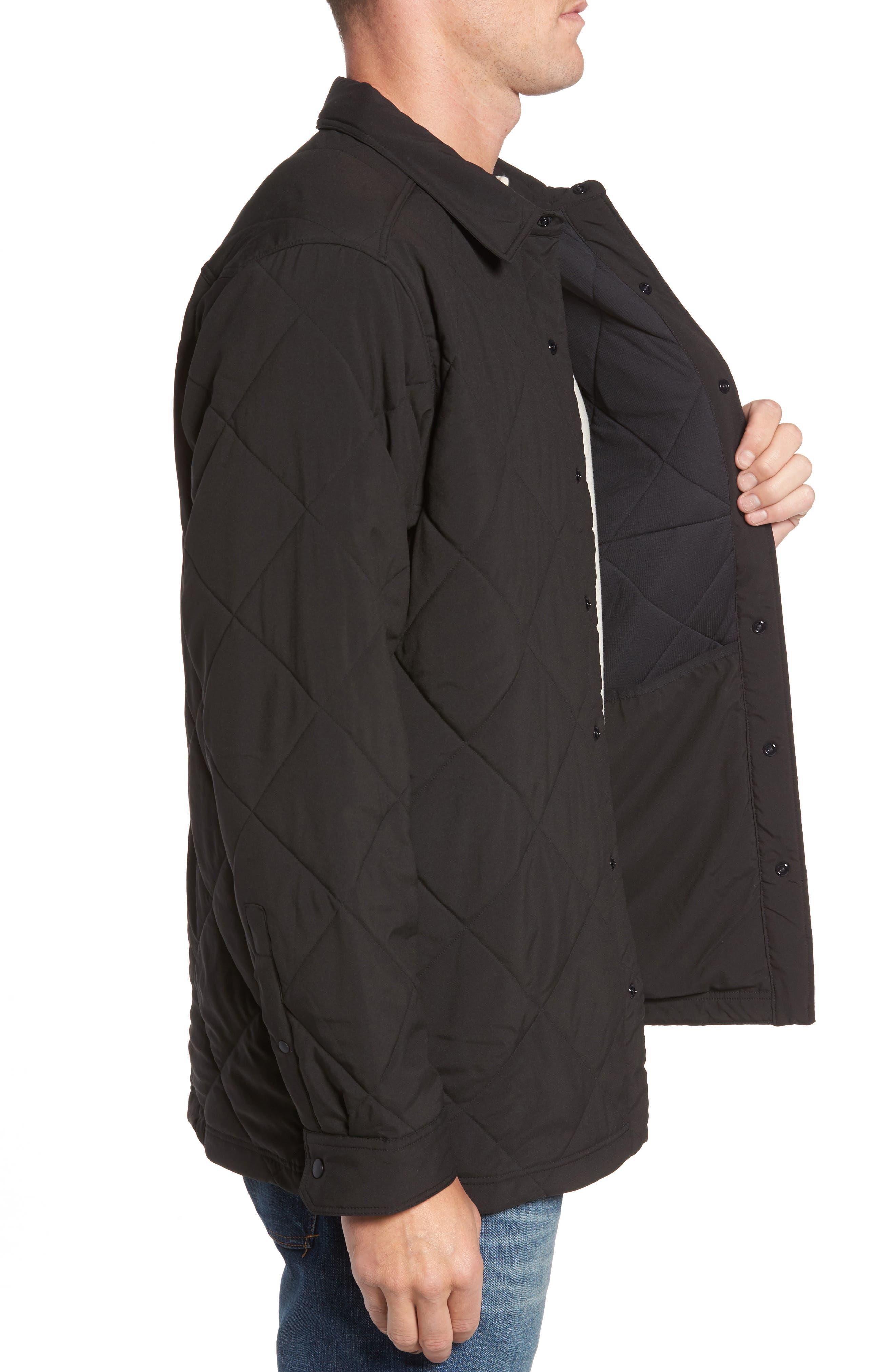 Tough Puff Shirt Jacket,                             Alternate thumbnail 3, color,                             001