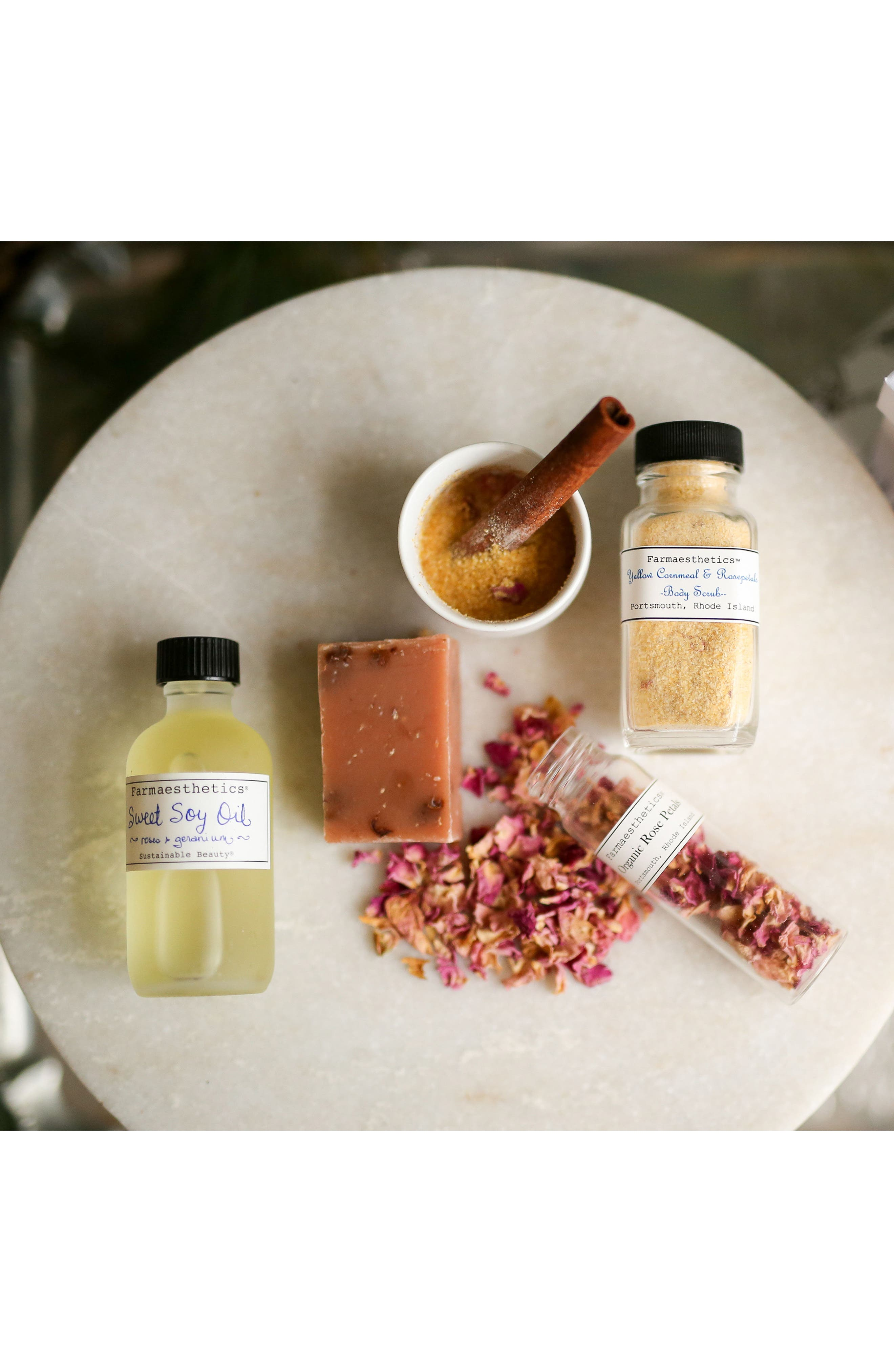 Roses & Geranium Sweet Soy Bath & Beauty Oil,                             Alternate thumbnail 2, color,                             000
