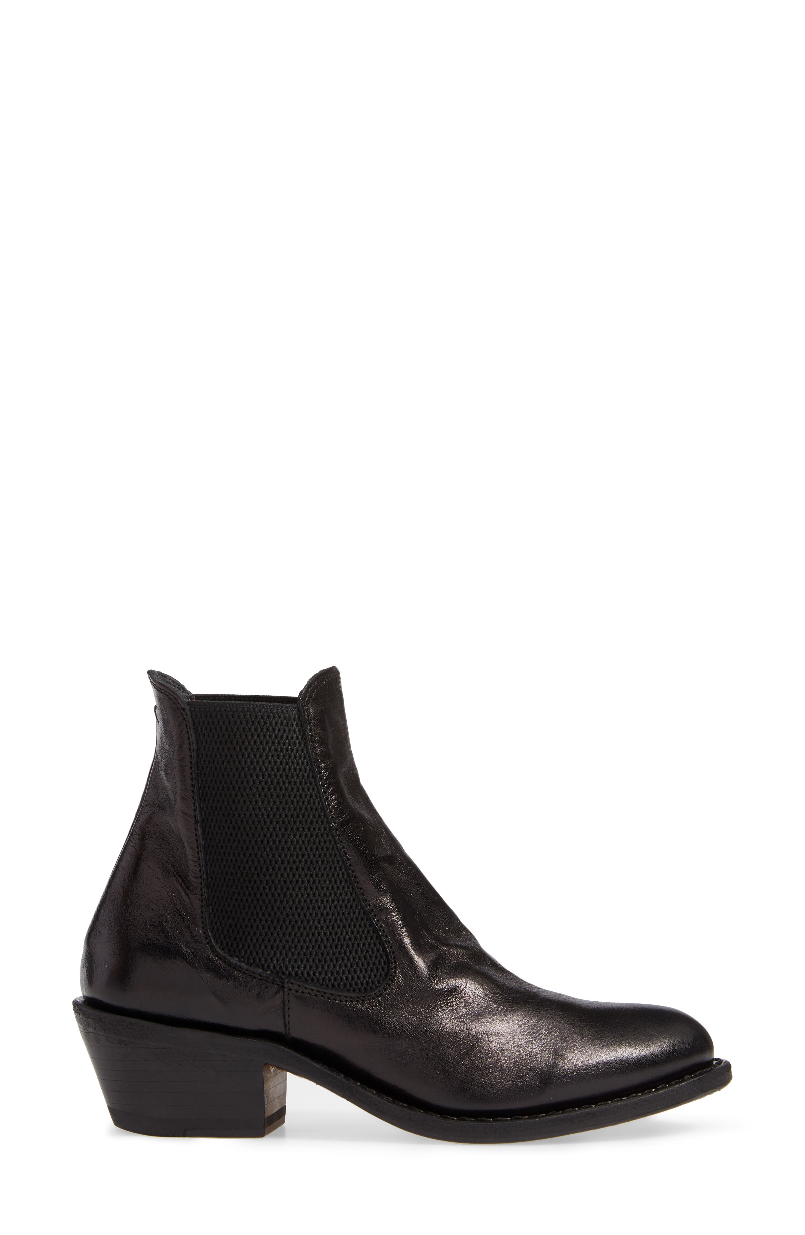 Roxy Boot,                             Alternate thumbnail 3, color,                             BLACK LEATHER