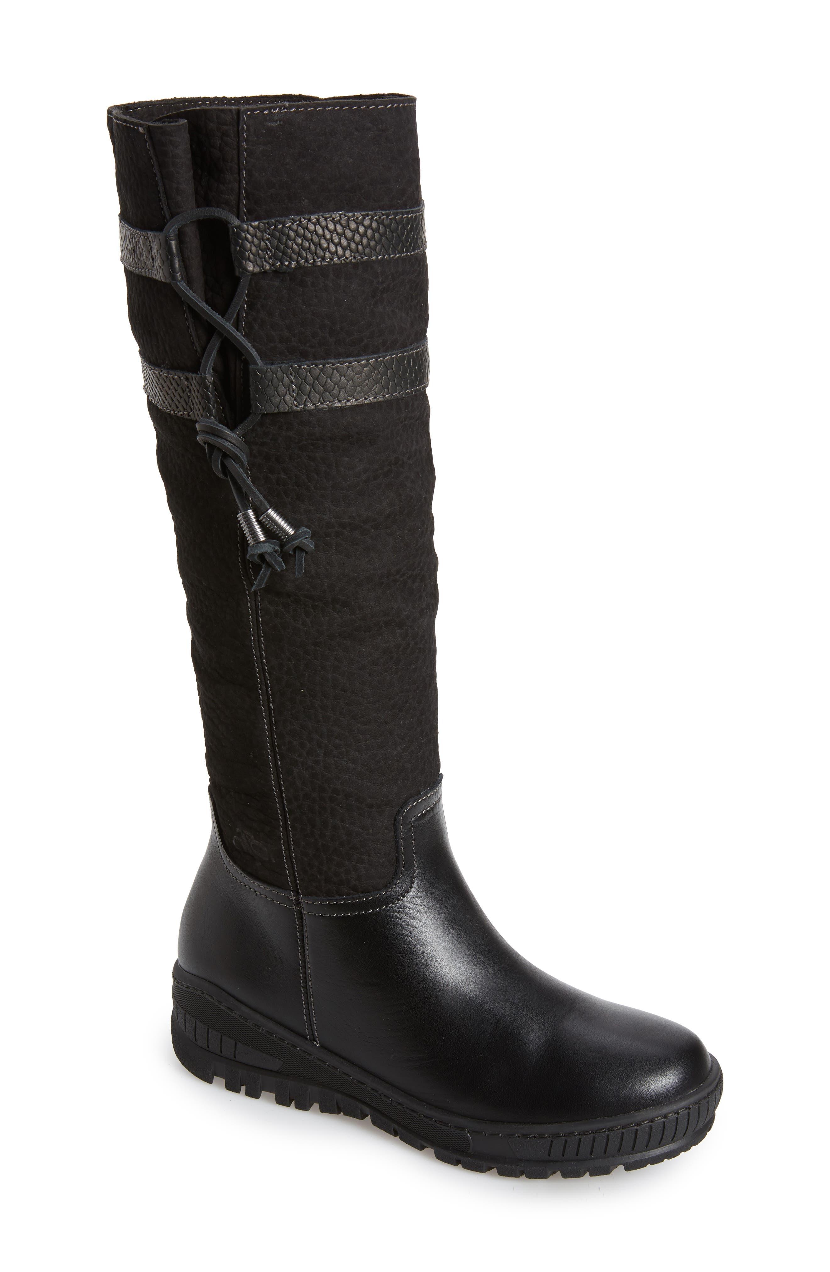 Otbt Move On Knee High Boot, Black