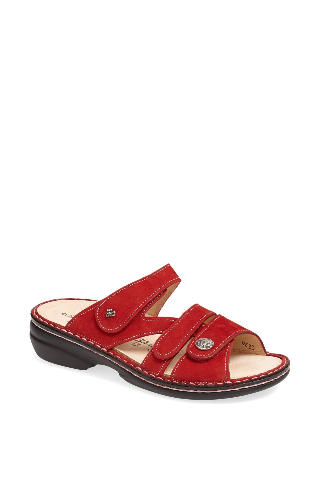 'Ventura' Sandal,                             Main thumbnail 1, color,                             RED
