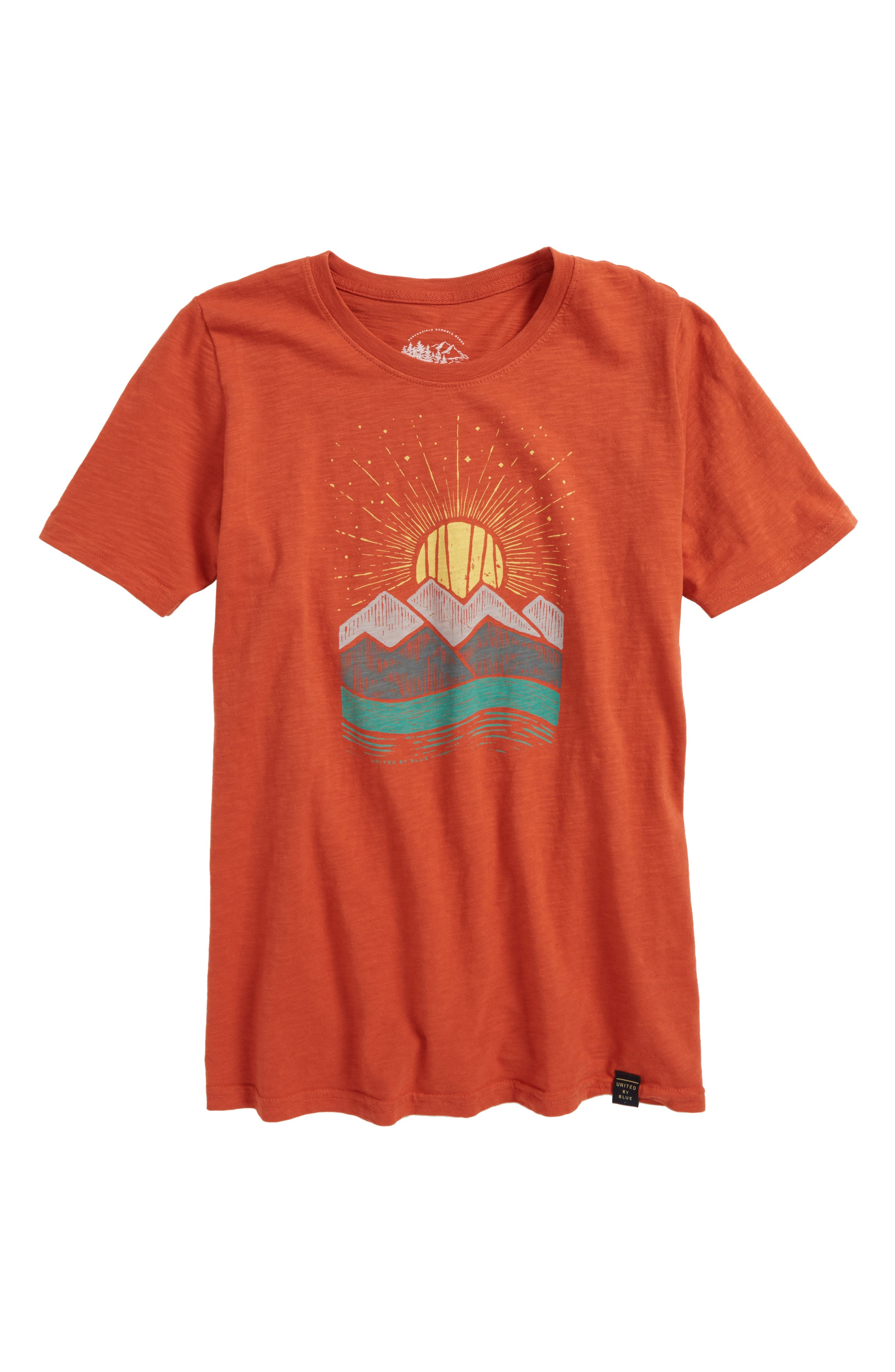 Geo Sun Organic Cotton T-Shirt,                             Main thumbnail 1, color,                             800