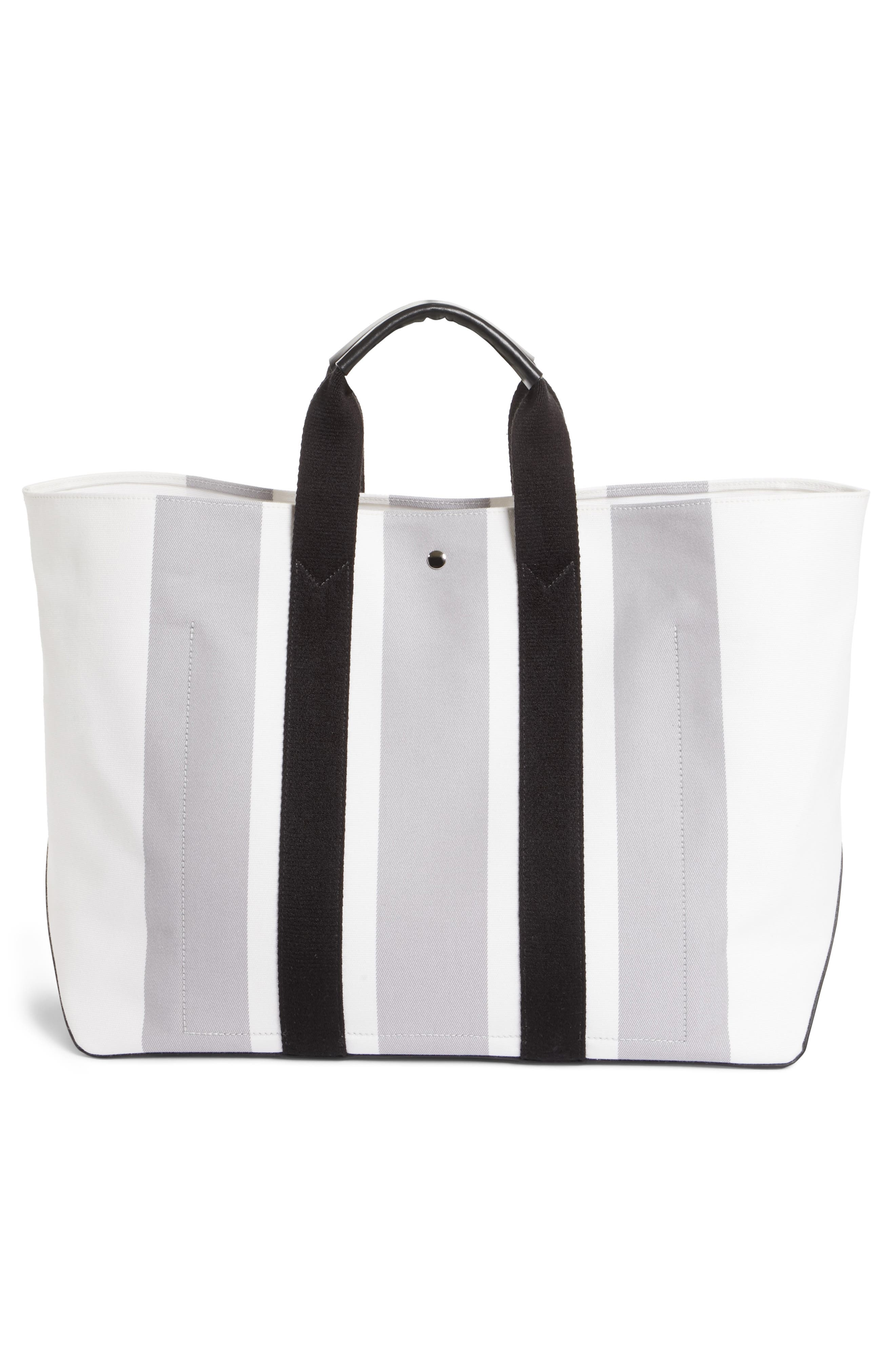 Stripe Canvas Tote,                             Alternate thumbnail 3, color,                             132