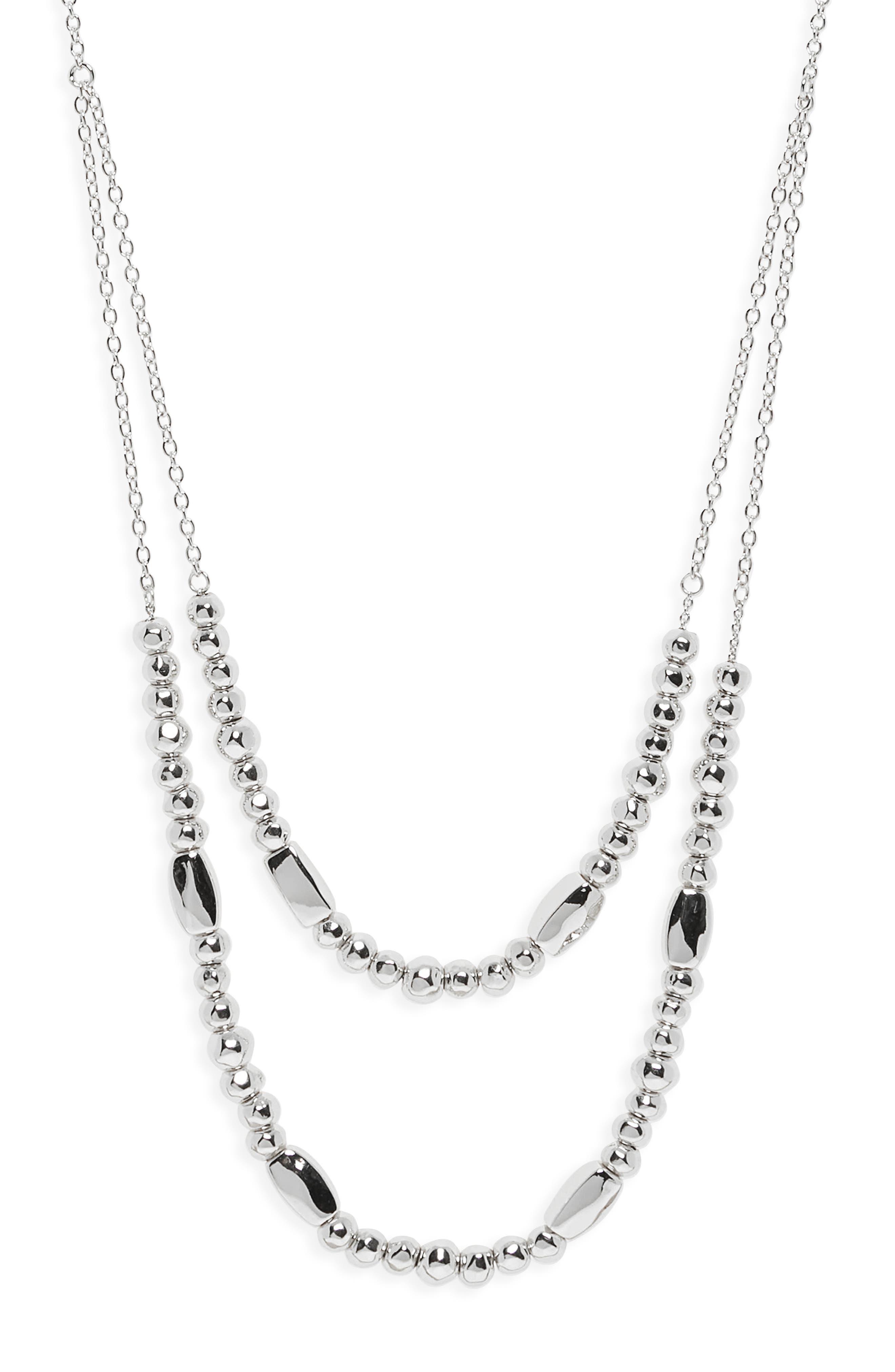 Kellen Adjustable Layer Necklace,                             Alternate thumbnail 2, color,                             SILVER