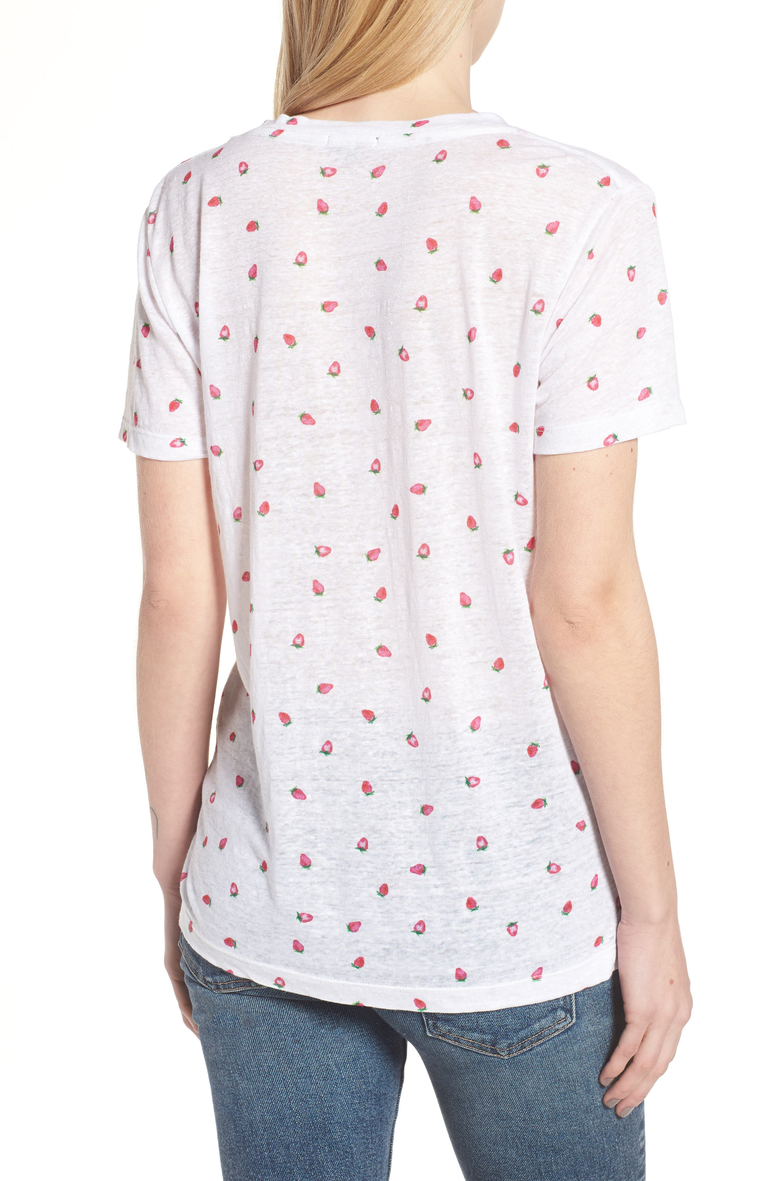 Cara Strawberry Tee,                             Alternate thumbnail 2, color,                             604