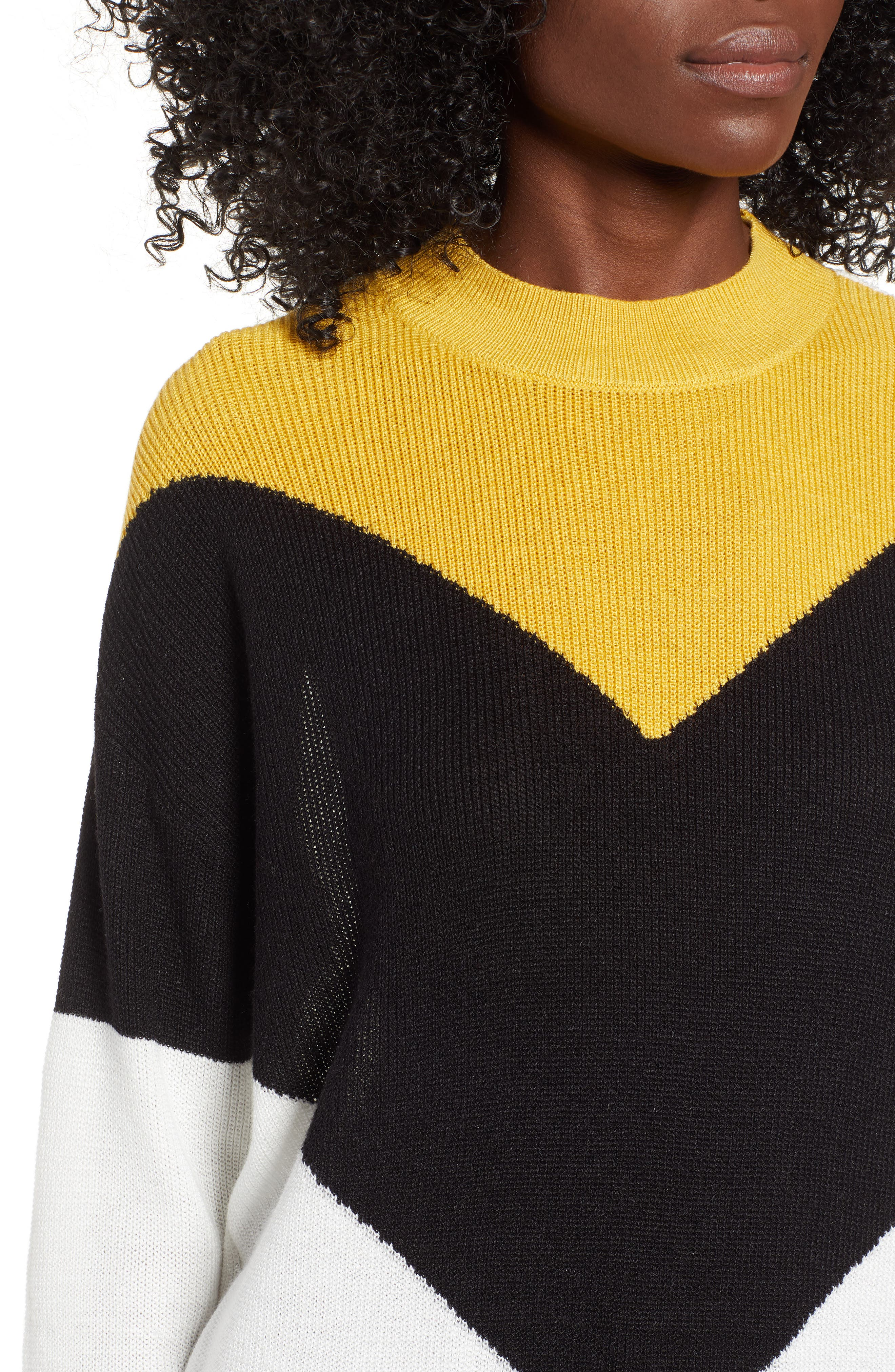 Chevron Stripe Sweater,                             Alternate thumbnail 4, color,                             720