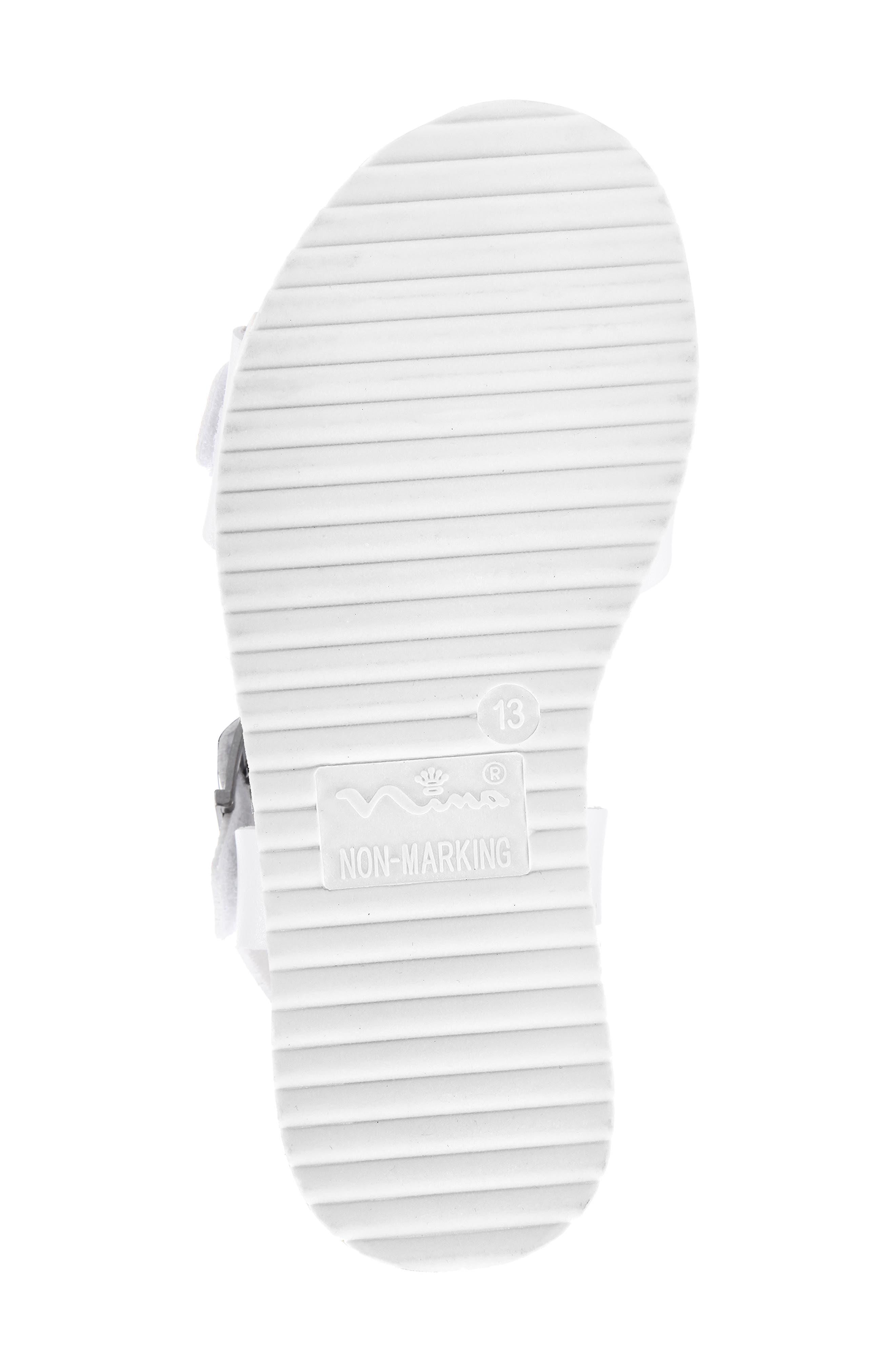 NINA,                             Jacklin3 Quarter Strap Sandal,                             Alternate thumbnail 6, color,                             WHITE TUMBLE