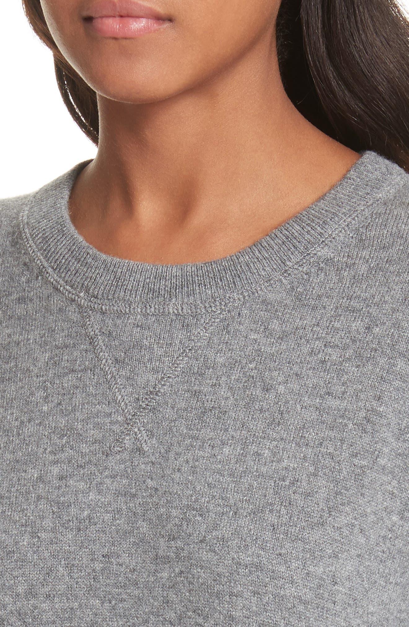Renee Cashmere Sweatshirt,                             Alternate thumbnail 4, color,                             033