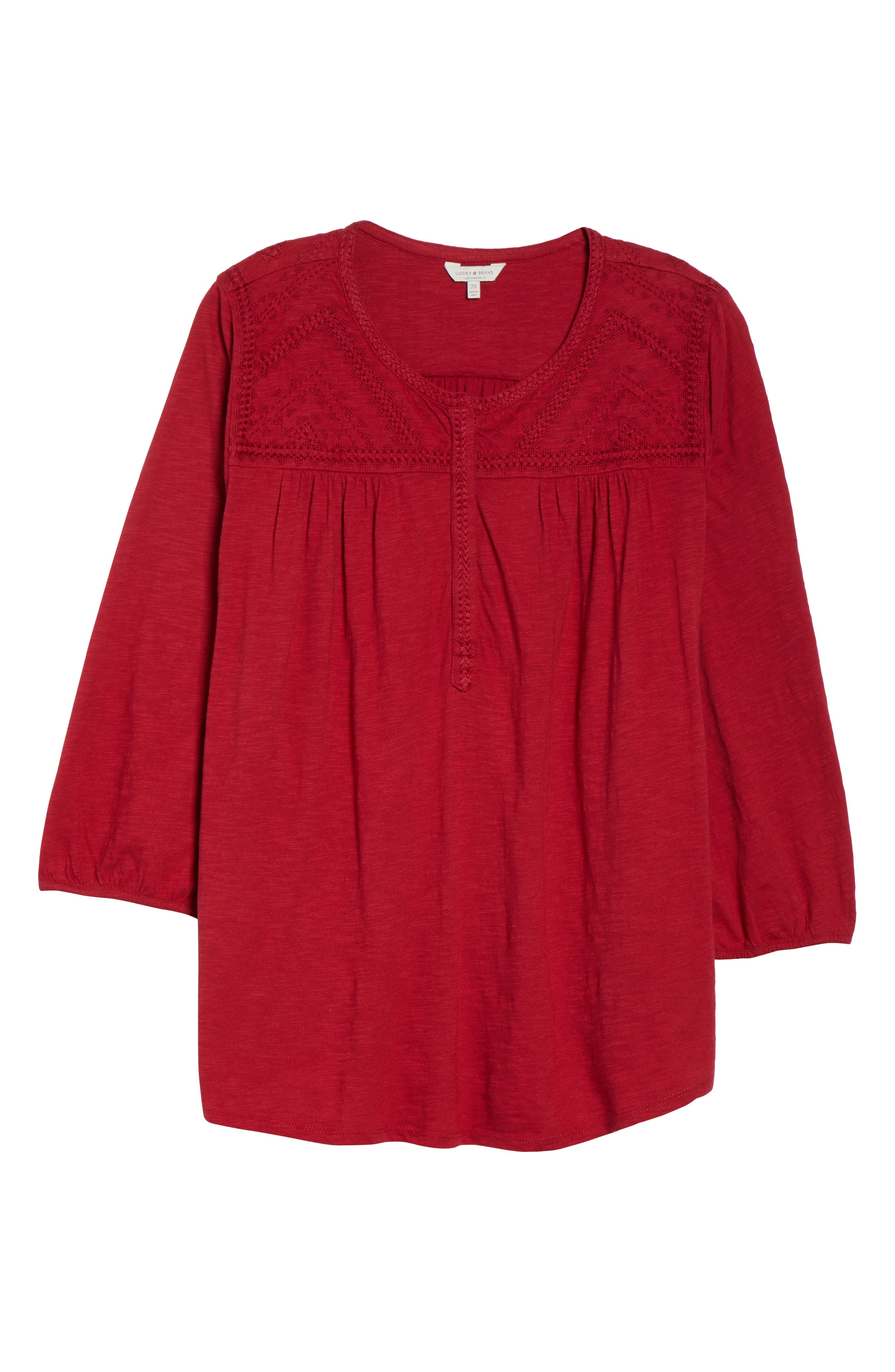 Embroidered Top,                             Alternate thumbnail 6, color,                             600