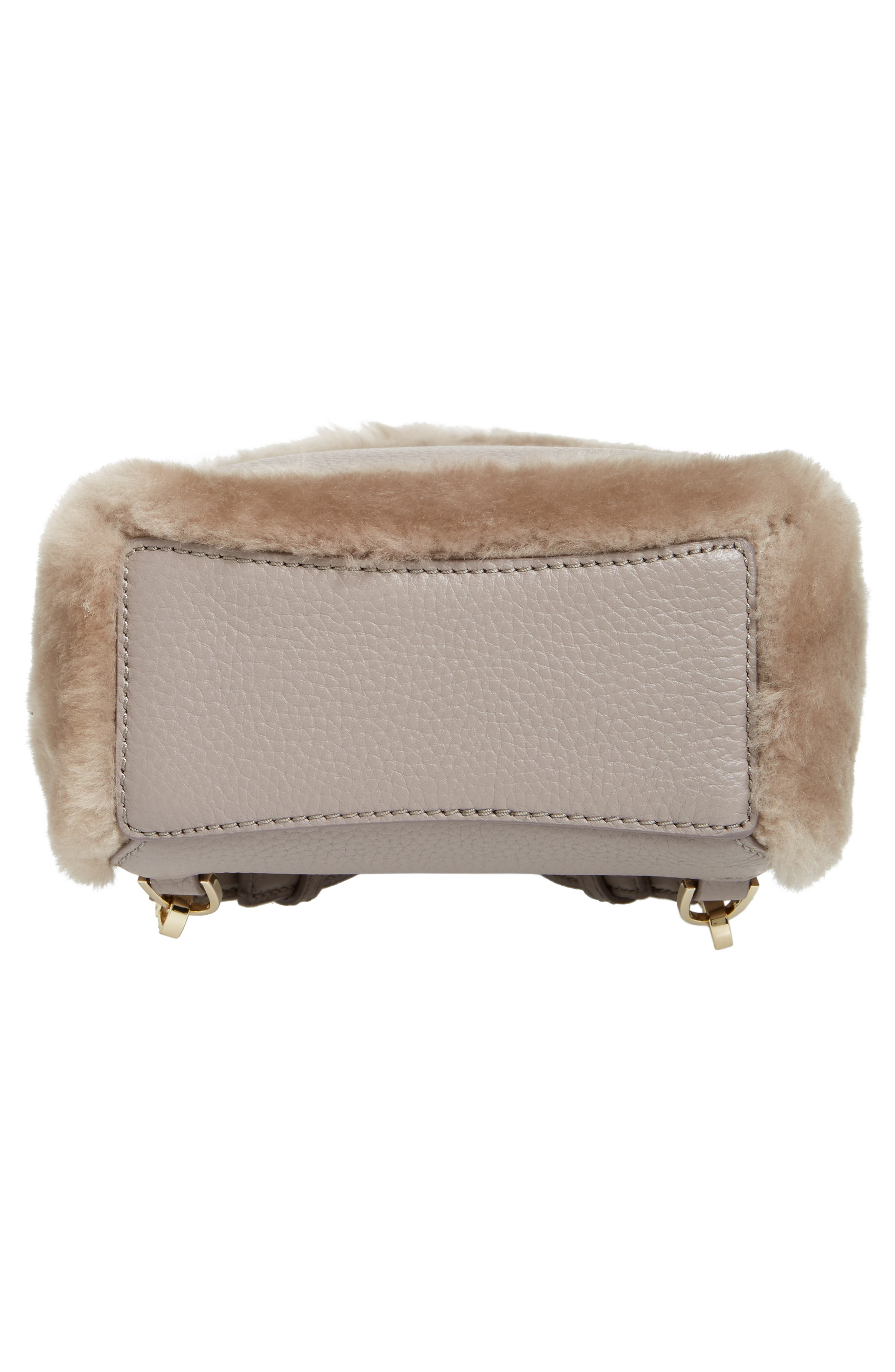 finer things merry genuine shearling convertible backpack,                             Alternate thumbnail 6, color,