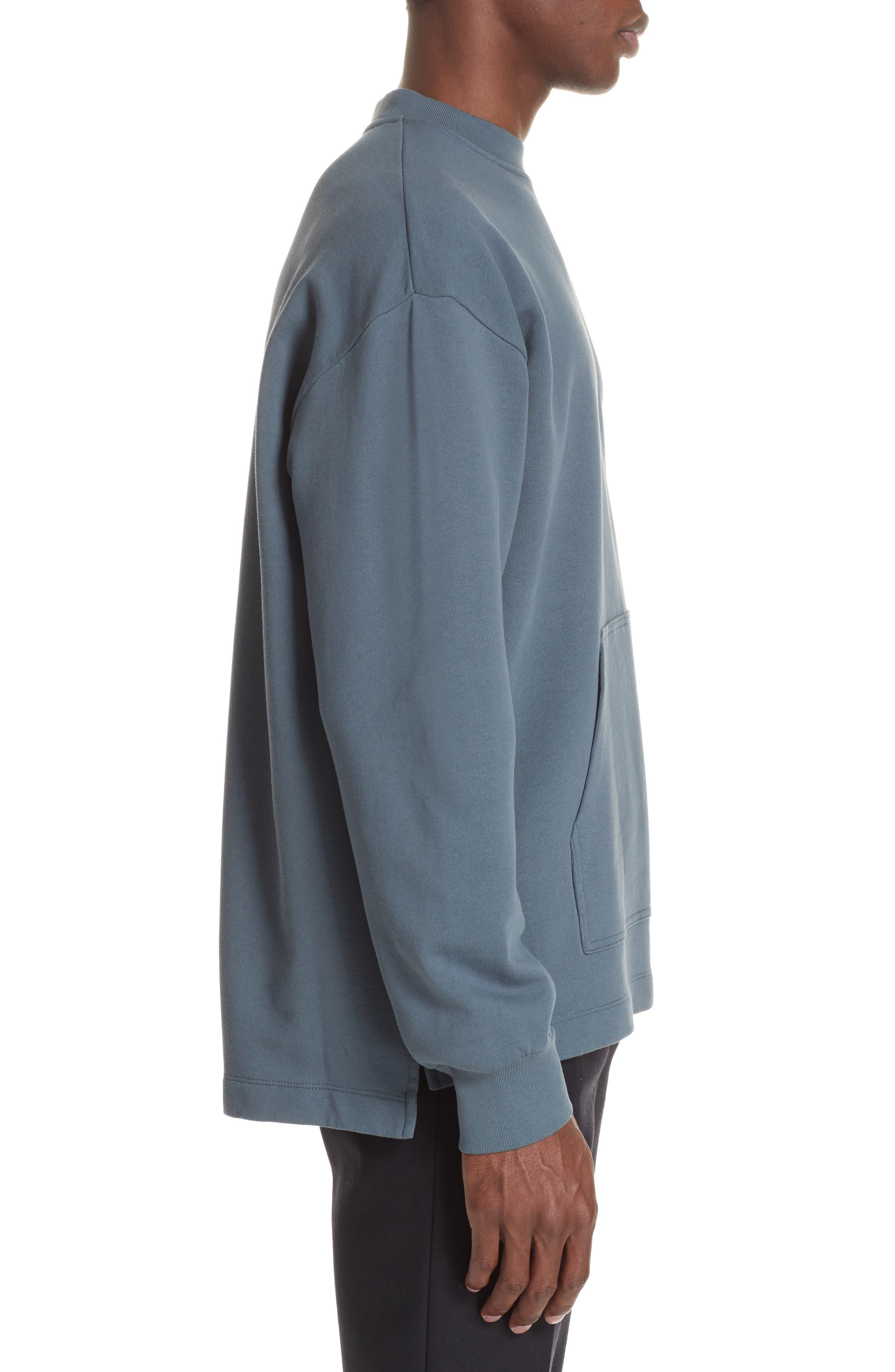 Fleece Knit Sweatshirt,                             Alternate thumbnail 3, color,                             GREY