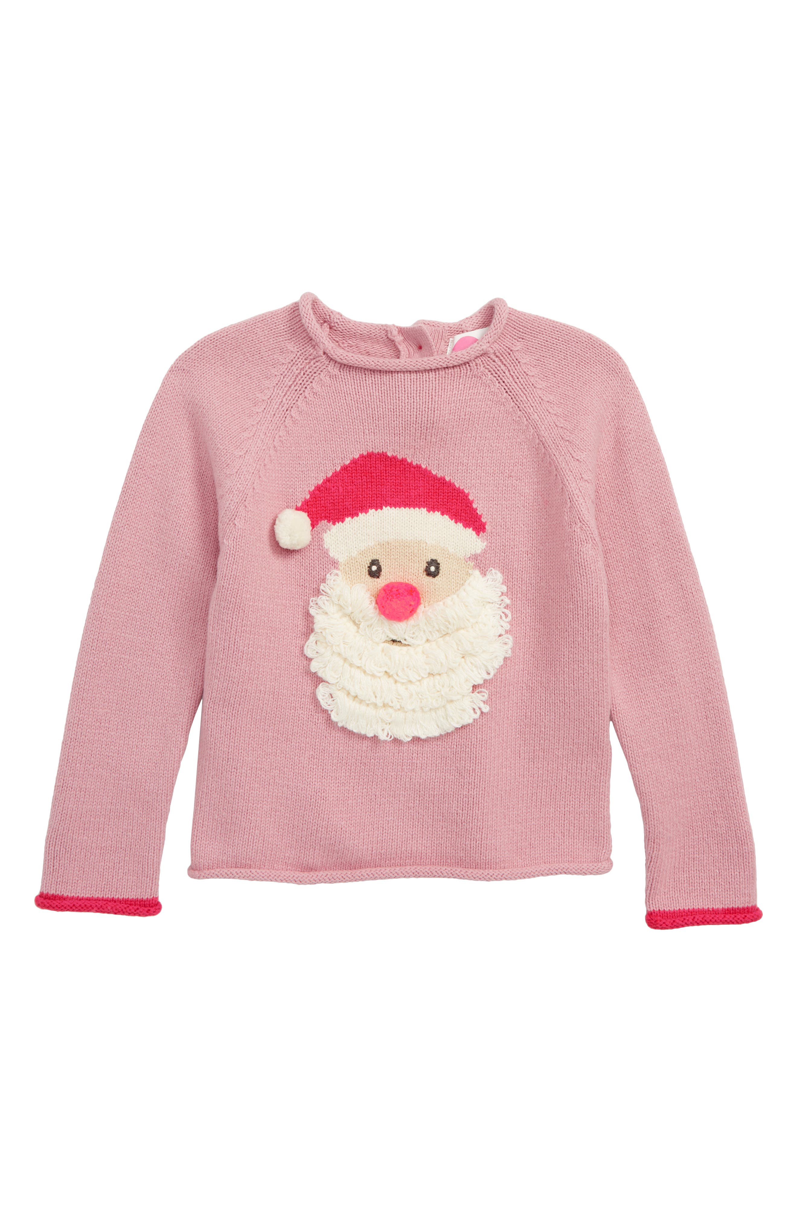 Christmas Day Sweater,                         Main,                         color, VINTAGE PINK FATHER CHRISTM