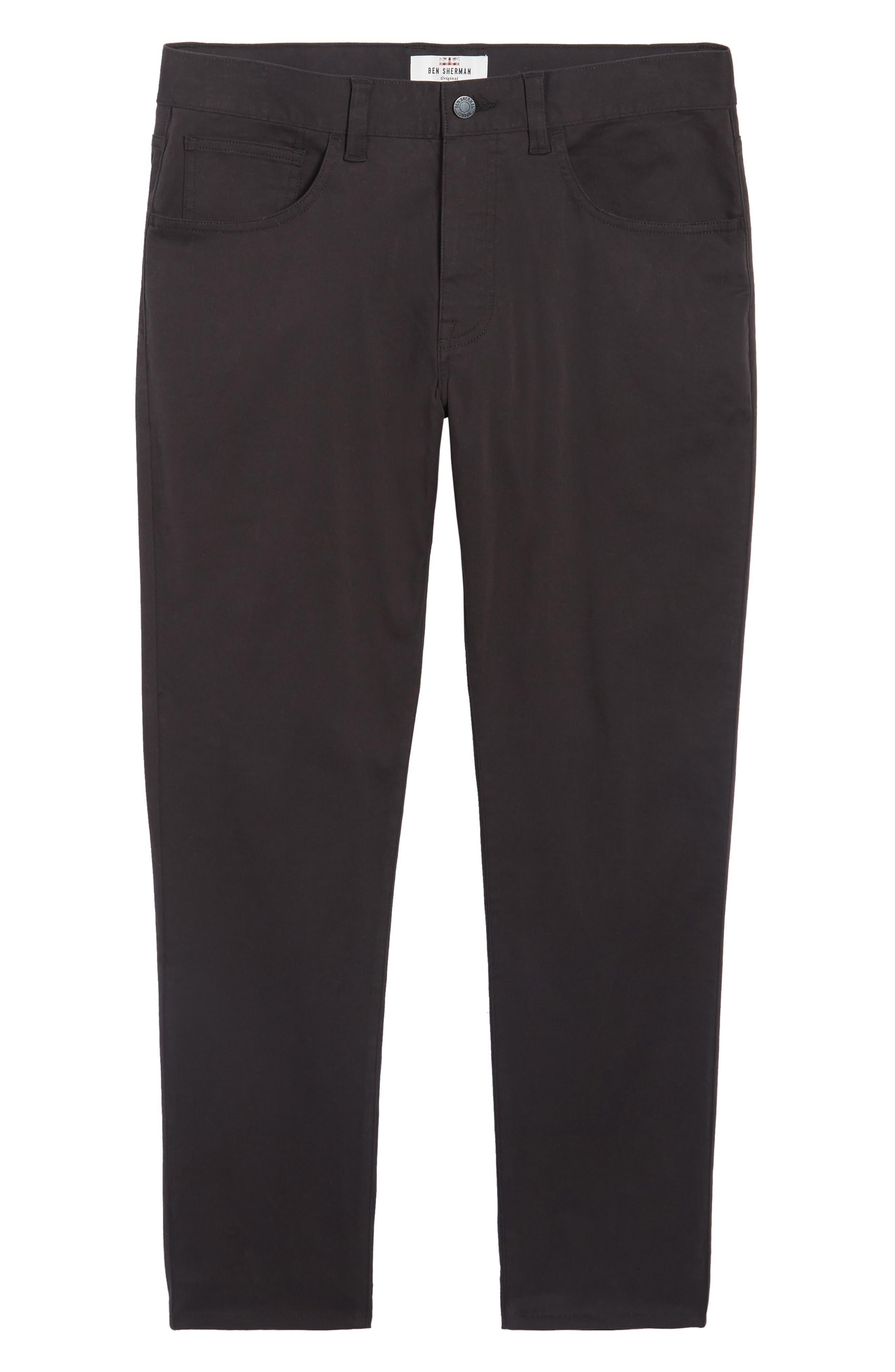 Slim Stretch Twill Pants,                             Alternate thumbnail 6, color,                             001