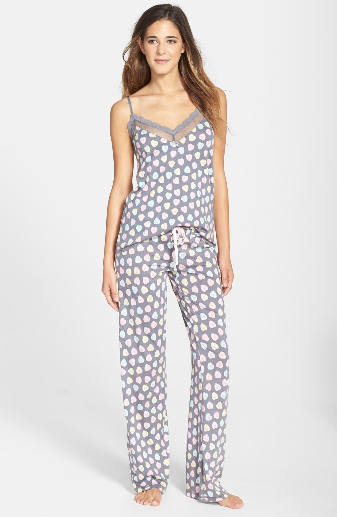 PJ SALVAGE,                             'Candy Hearts' Pajama Pants,                             Alternate thumbnail 2, color,                             020