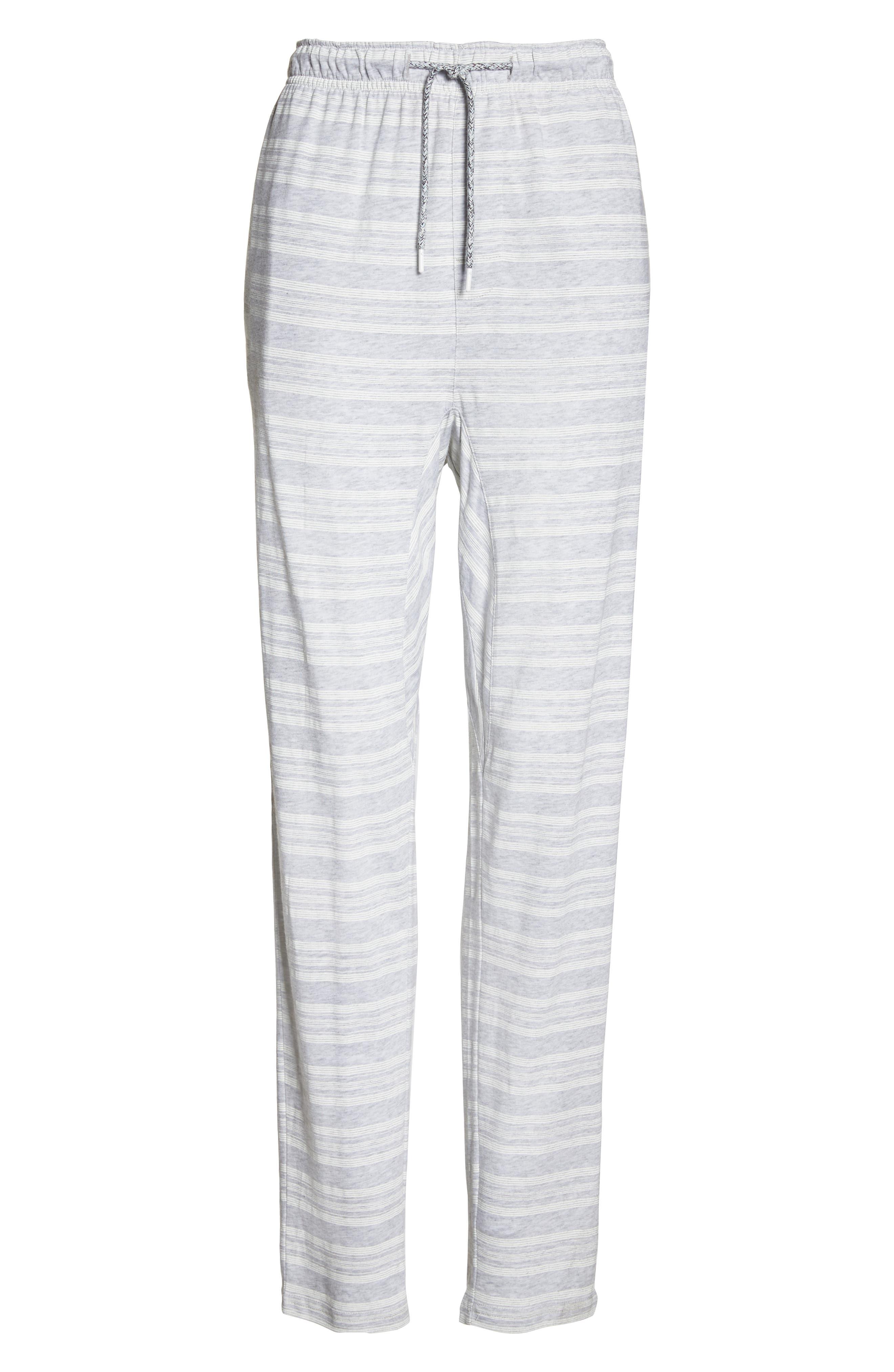 Alice Pajama Pants,                             Alternate thumbnail 6, color,                             LOLLY STRIPE WHITE