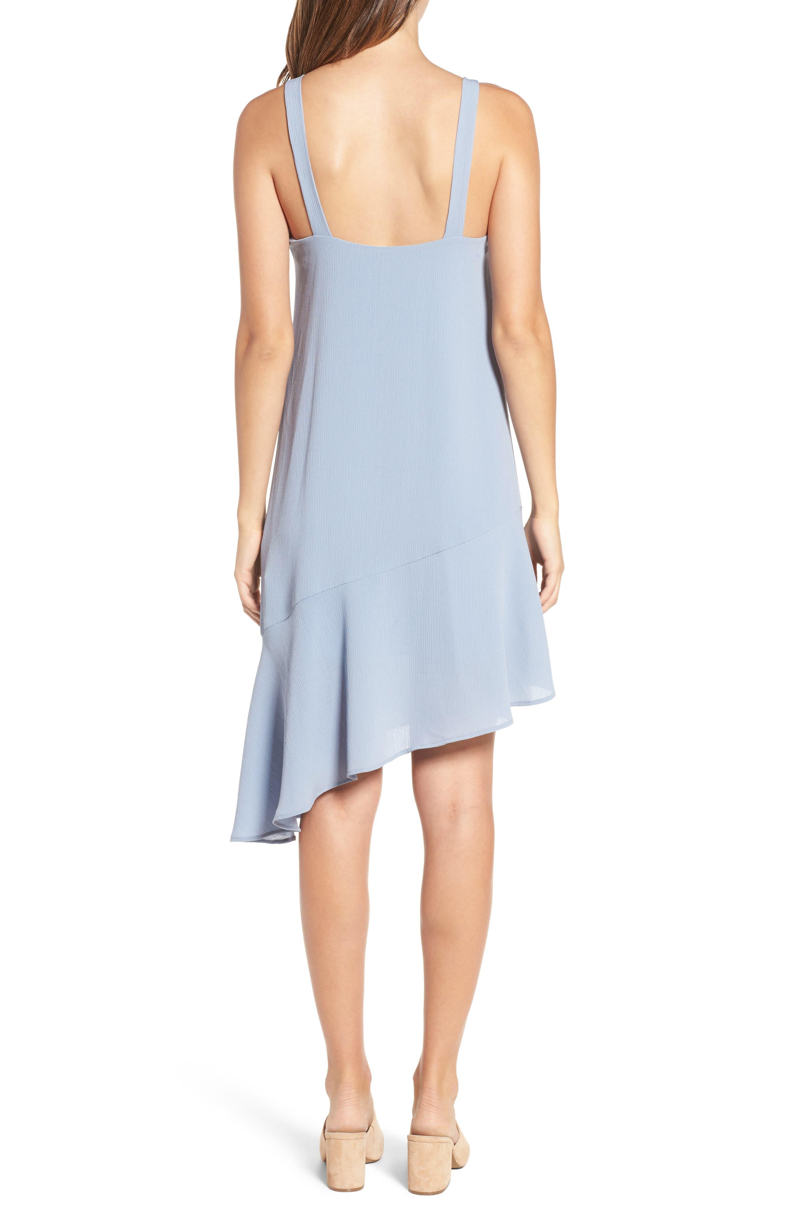 Asymmetrical Ruffle Hem Dress,                             Alternate thumbnail 2, color,                             400