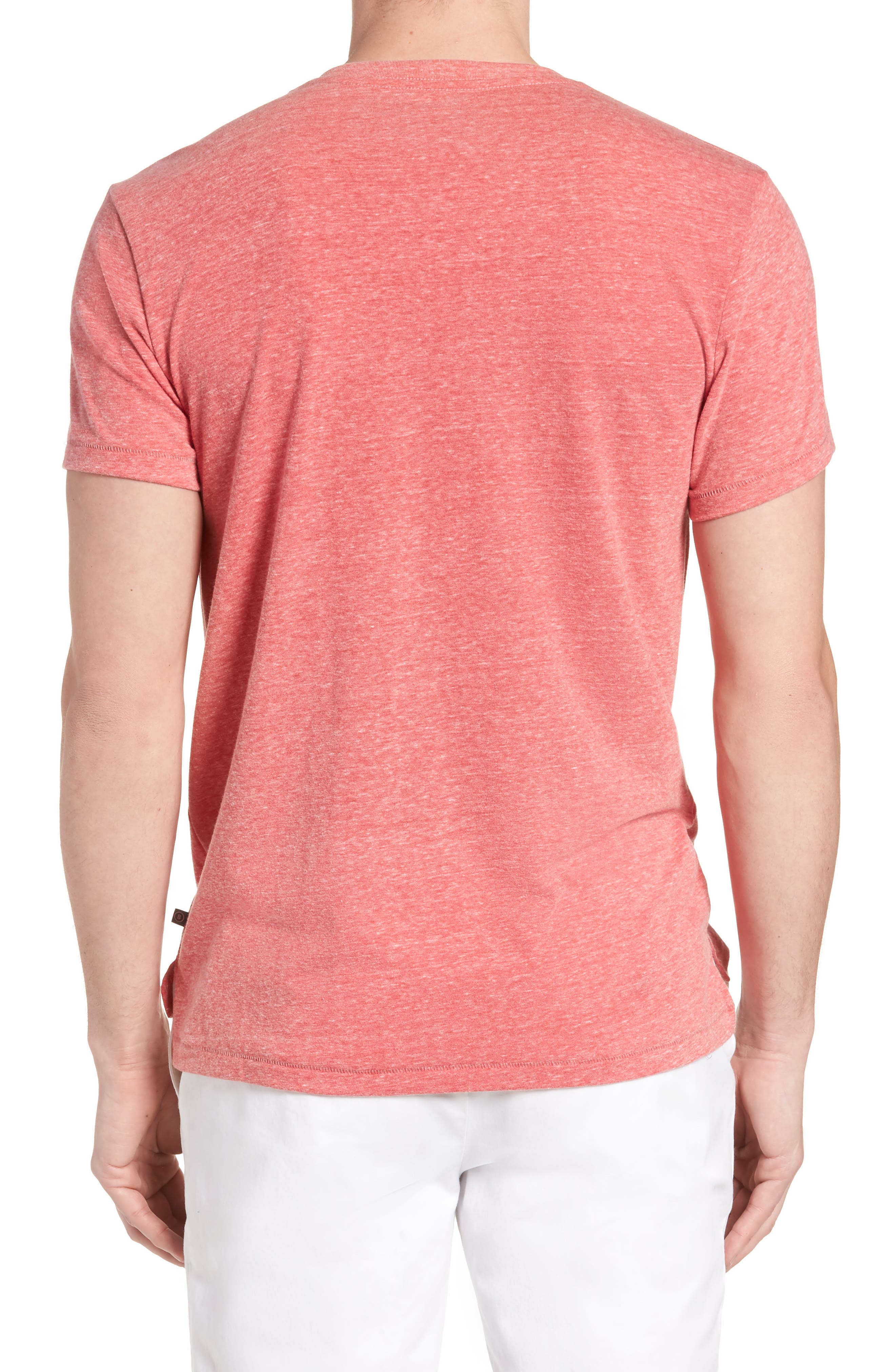 LA Slim Fit Heathered T-Shirt,                             Alternate thumbnail 6, color,