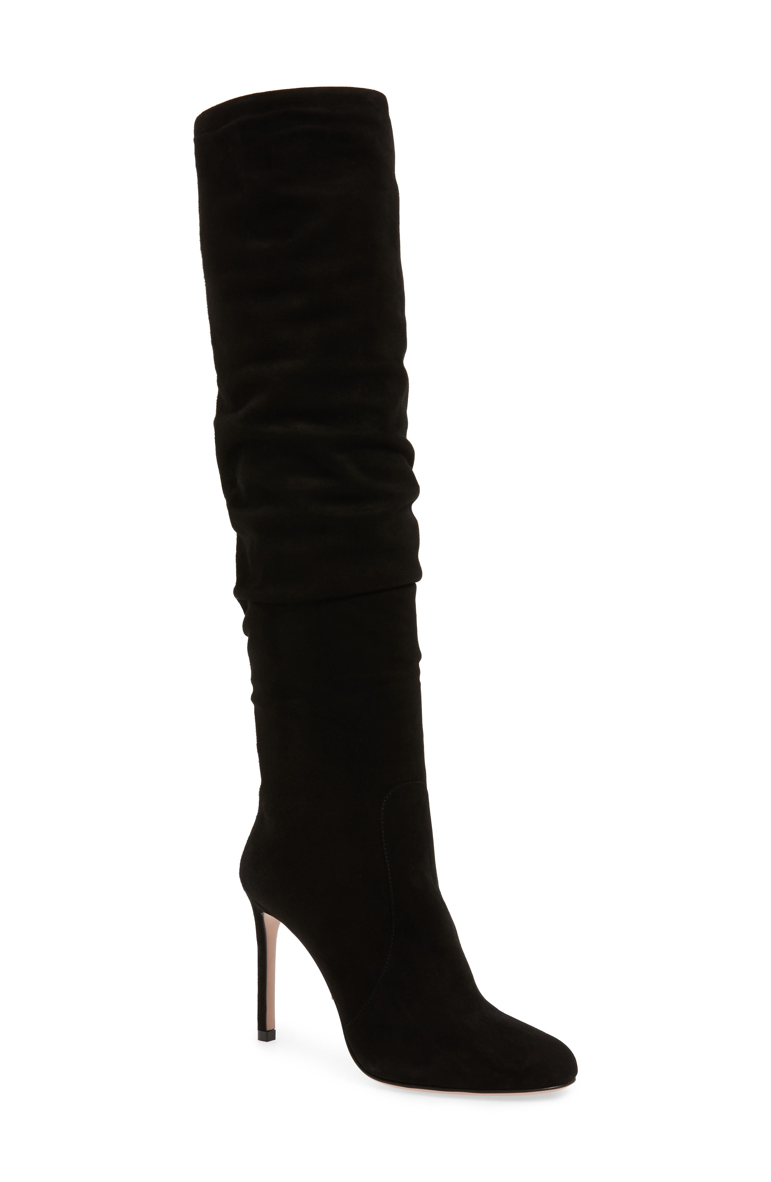Slouch Tall Boot,                         Main,                         color, BLACK