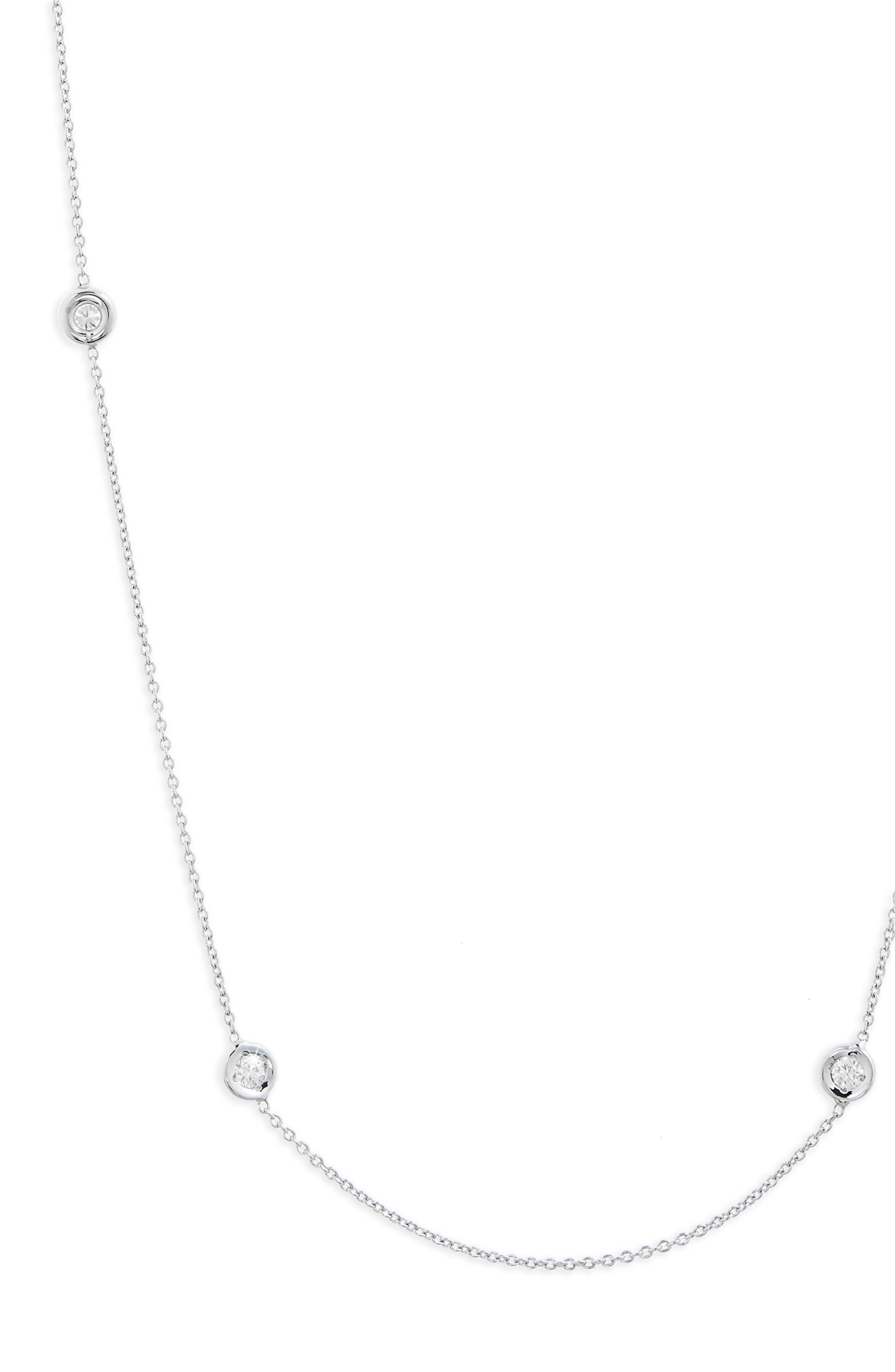 Diamond Station Necklace,                             Alternate thumbnail 3, color,