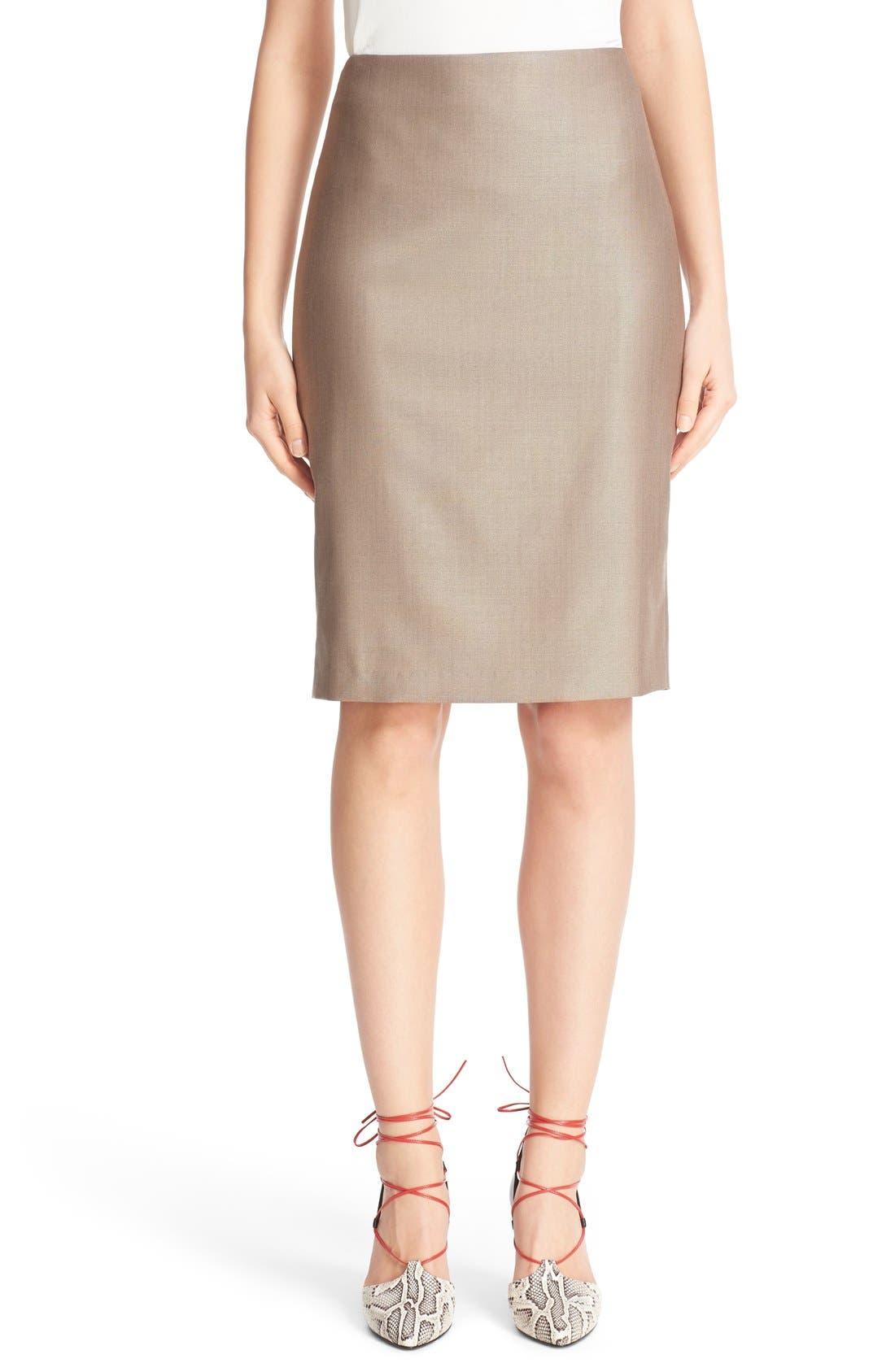 Wool Blend Pencil Skirt,                             Main thumbnail 1, color,                             220