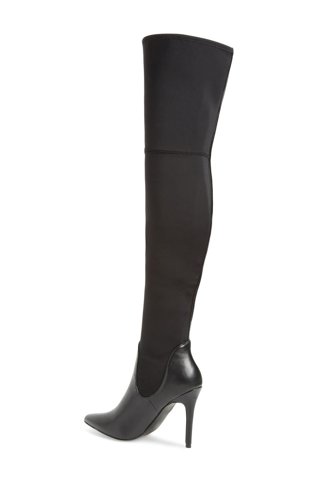 Premium Over the Knee Boot,                             Alternate thumbnail 4, color,                             001