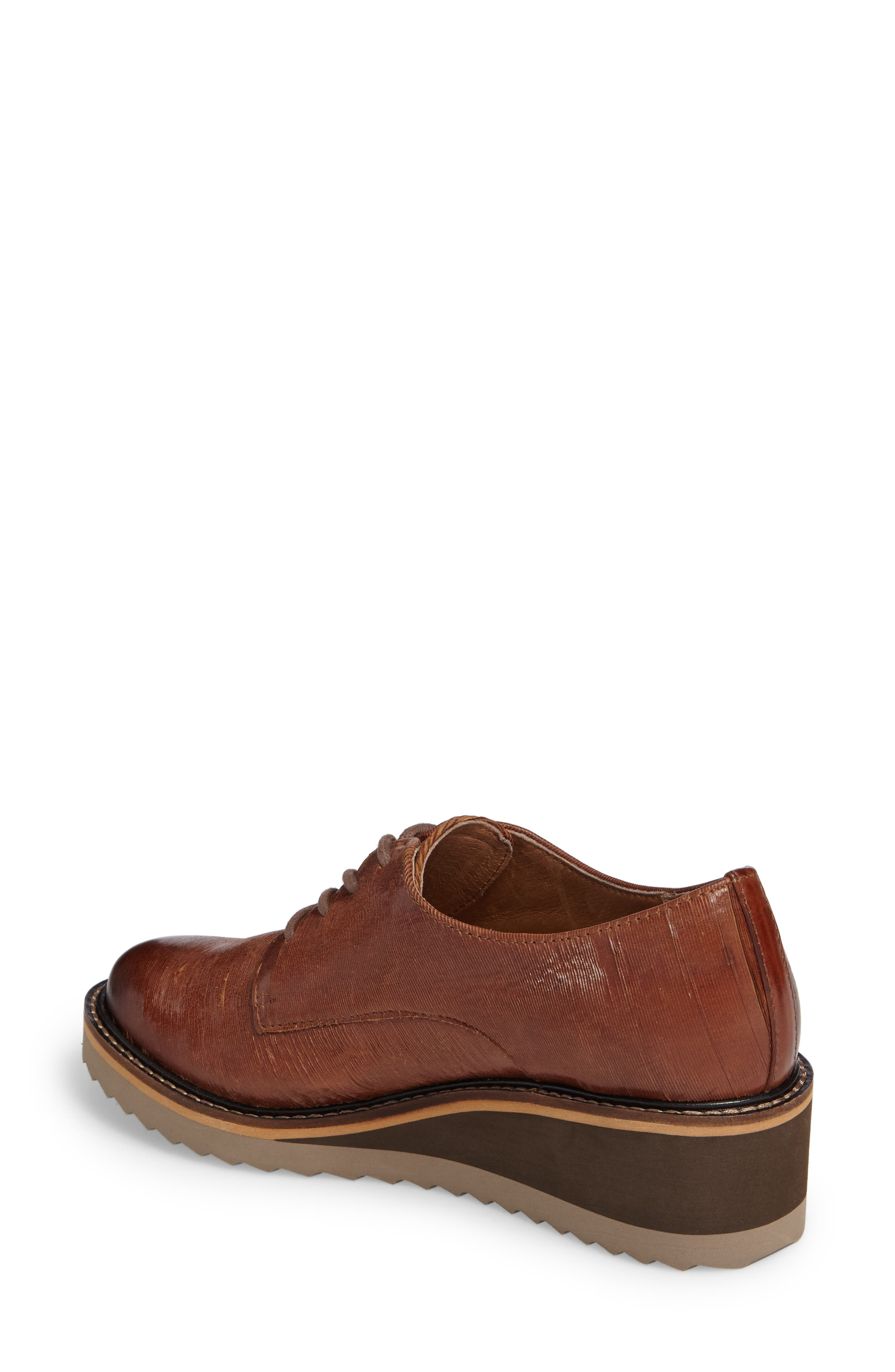 Salerno Oxford,                             Alternate thumbnail 2, color,                             WHISKEY SUEDE