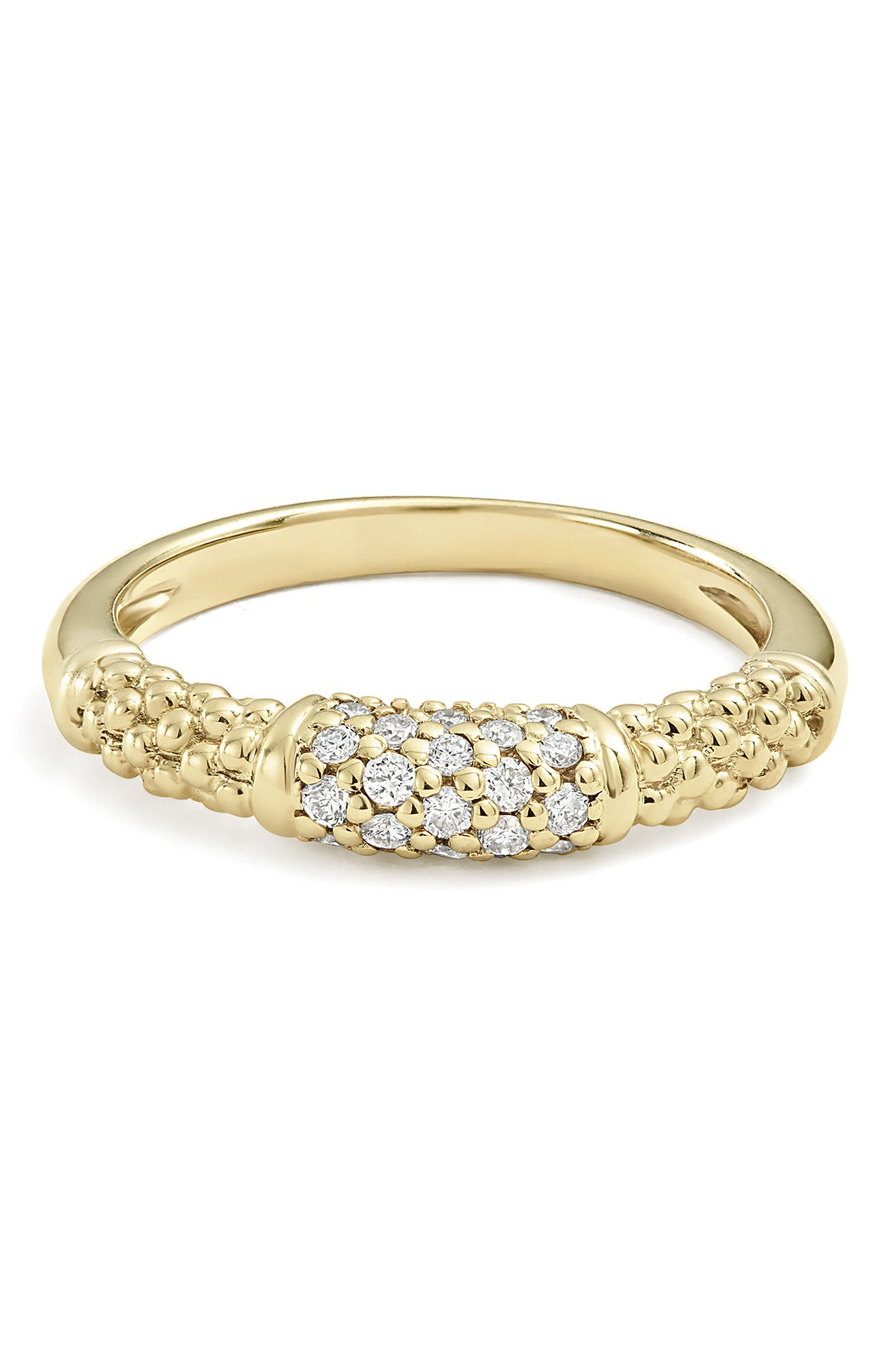 Caviar Diamond Ring,                             Alternate thumbnail 8, color,                             GOLD