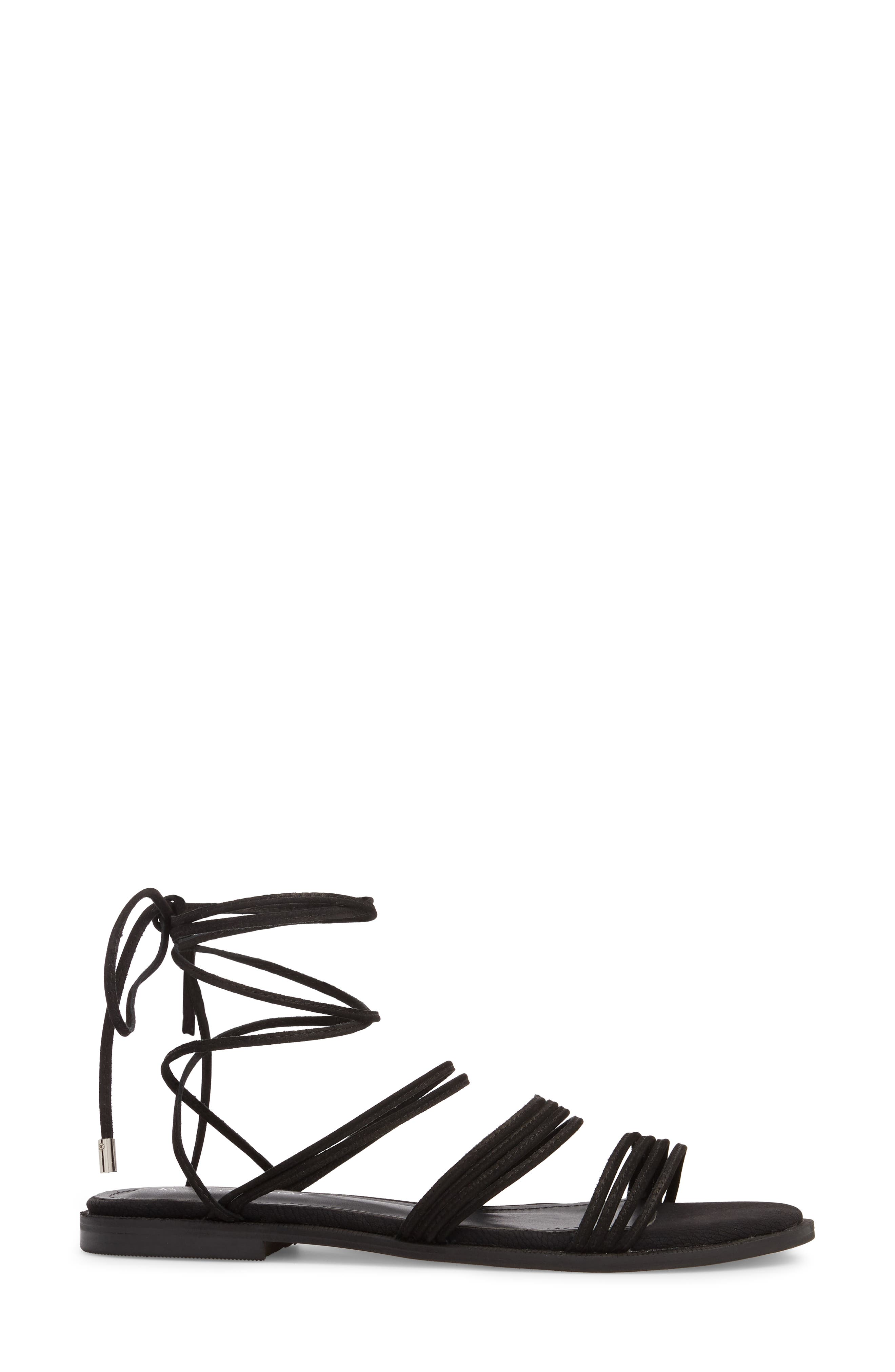 Theory Strappy Flat Sandal,                             Alternate thumbnail 7, color,