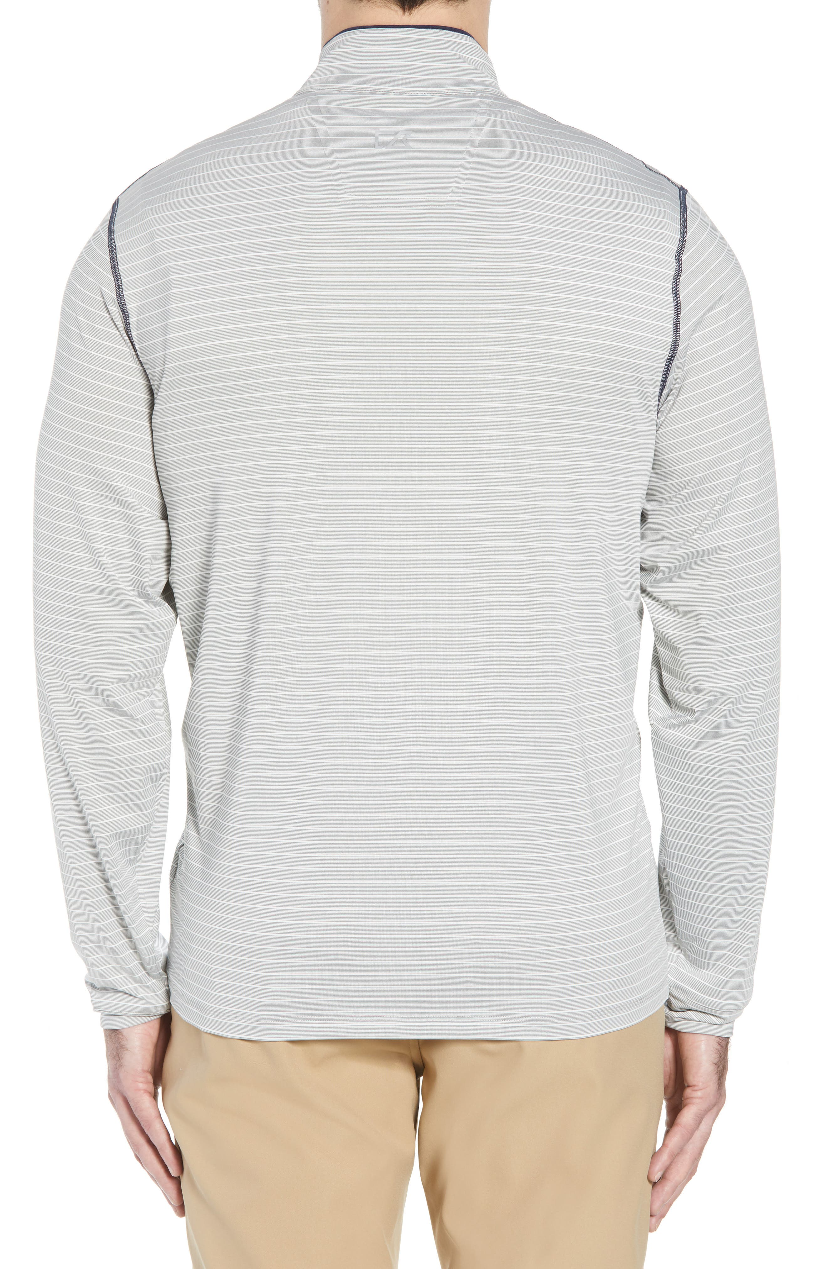 Meridian - Los Angeles Chargers Regular Fit Half Zip Pullover,                             Alternate thumbnail 2, color,                             NAVY