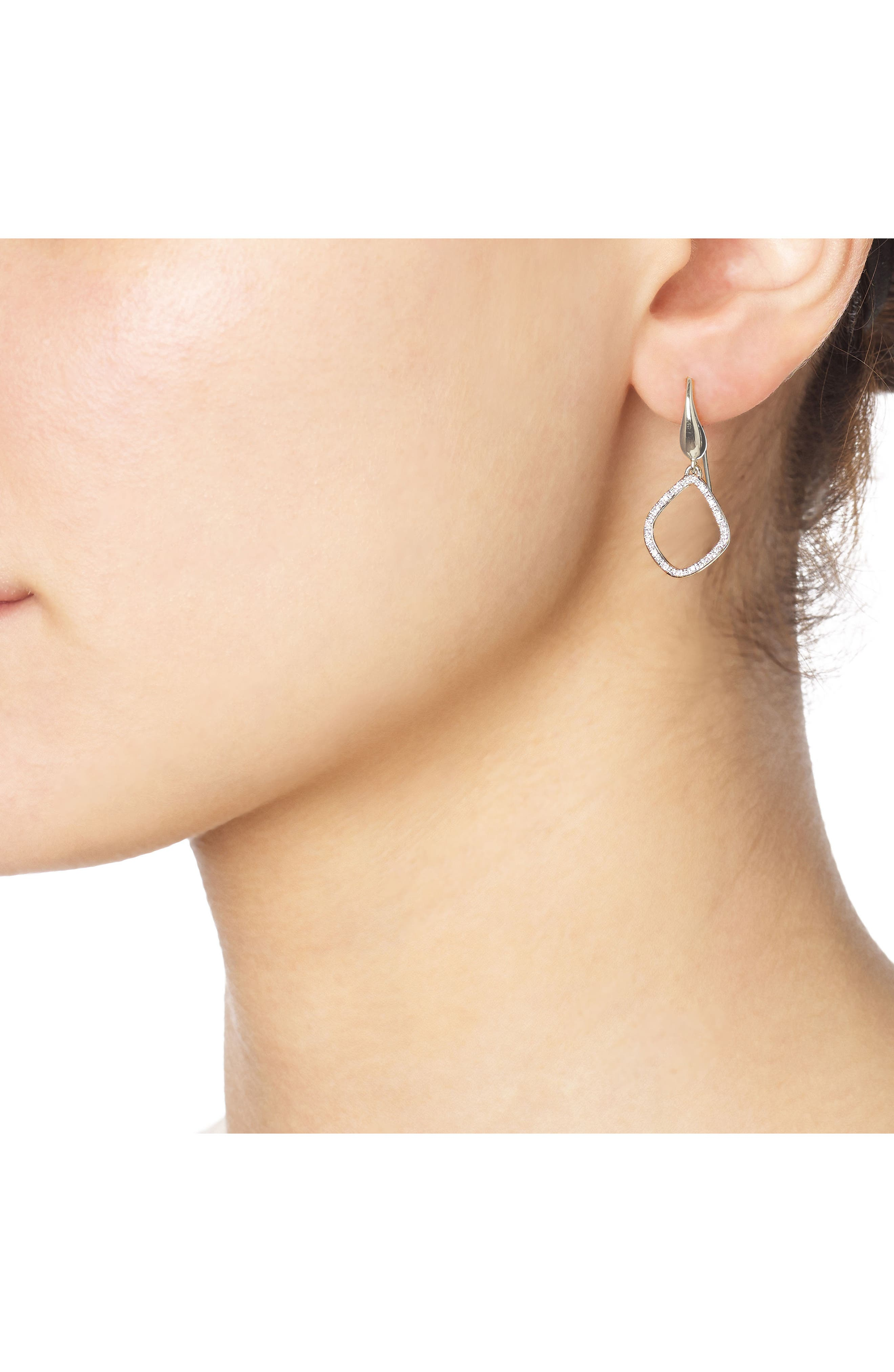 'Riva Kite' Diamond Drop Earrings,                             Alternate thumbnail 2, color,                             SILVER