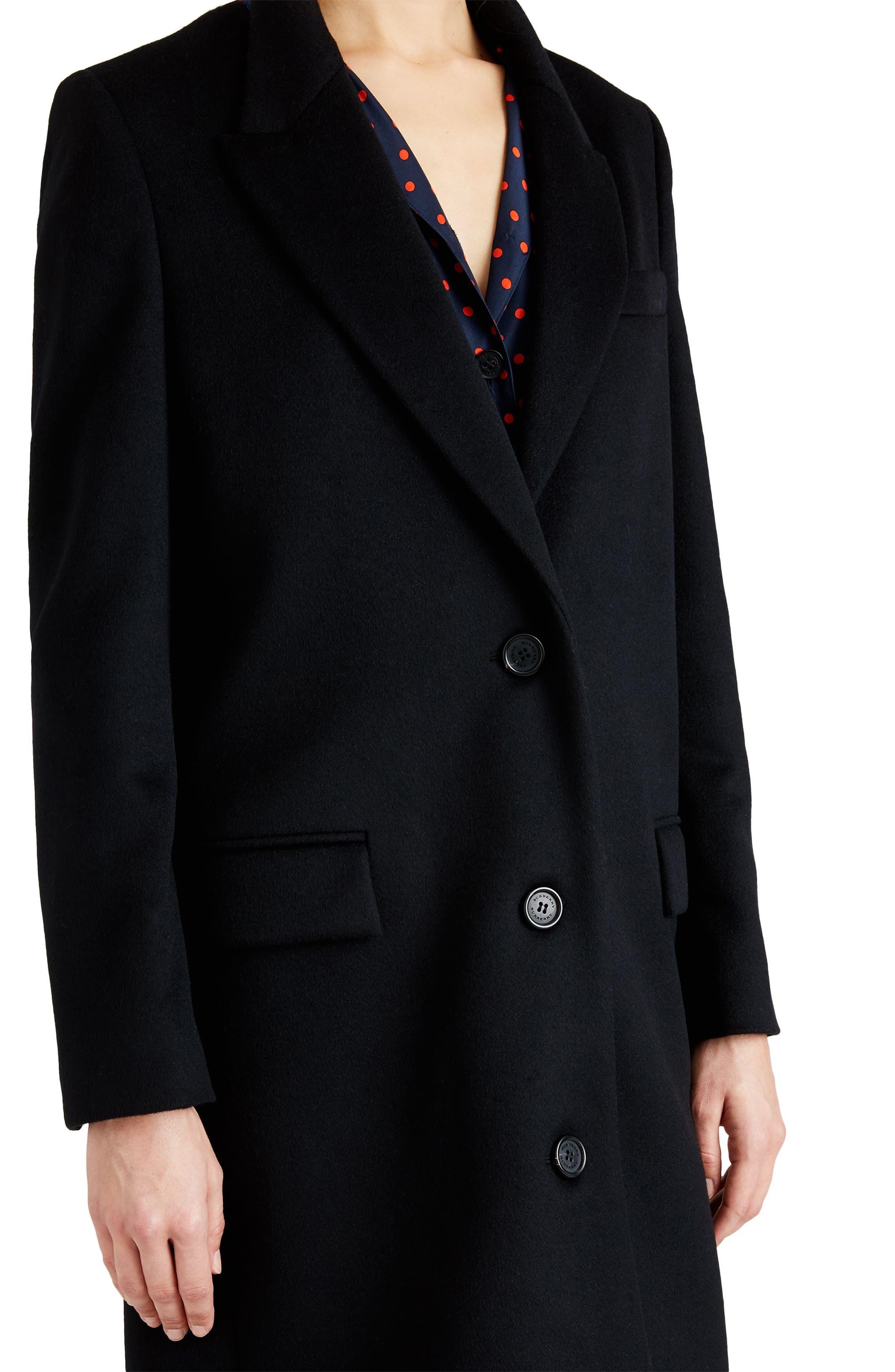 Fellhurst Wool & Cashmere Coat,                             Alternate thumbnail 4, color,                             001