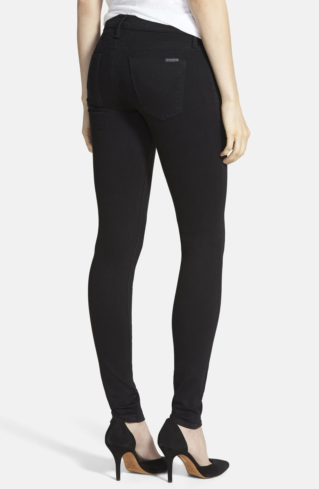 'Krista' Super Skinny Jeans,                             Alternate thumbnail 3, color,                             001