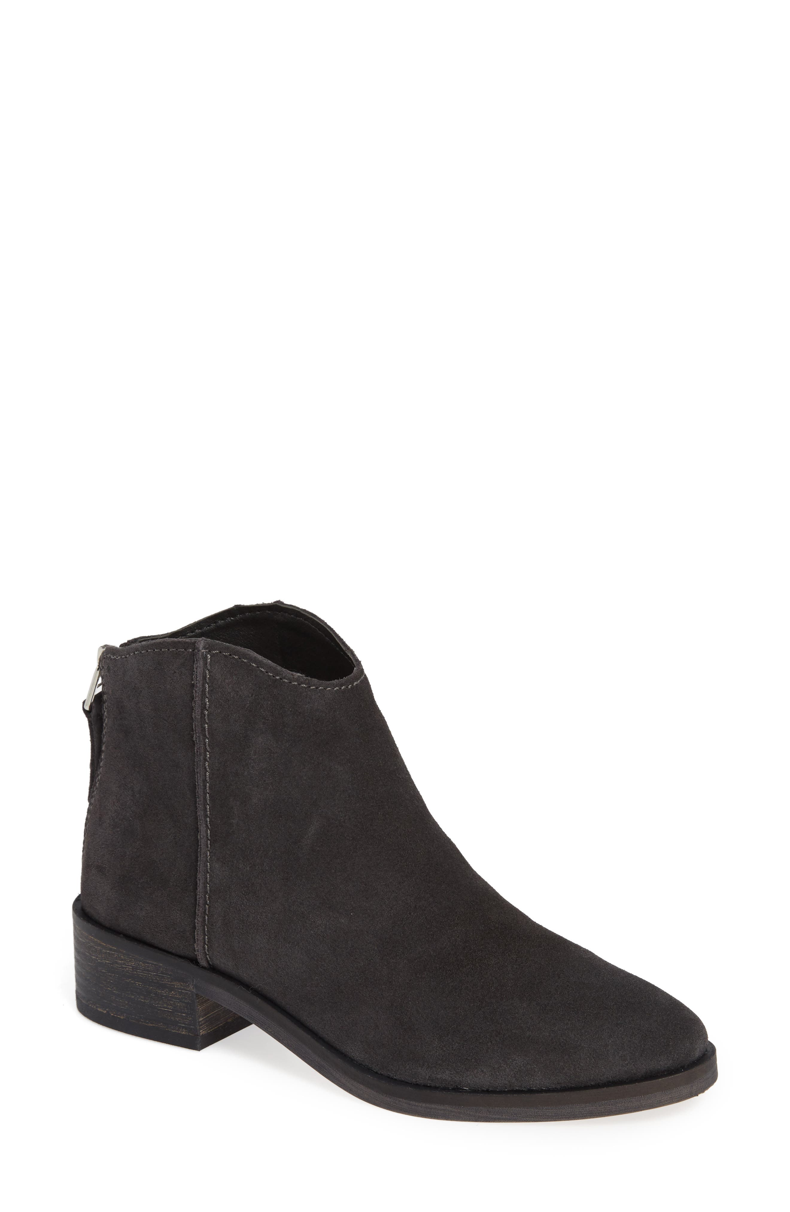 Tucker Bootie,                             Main thumbnail 1, color,                             ANTHRACITE SUEDE