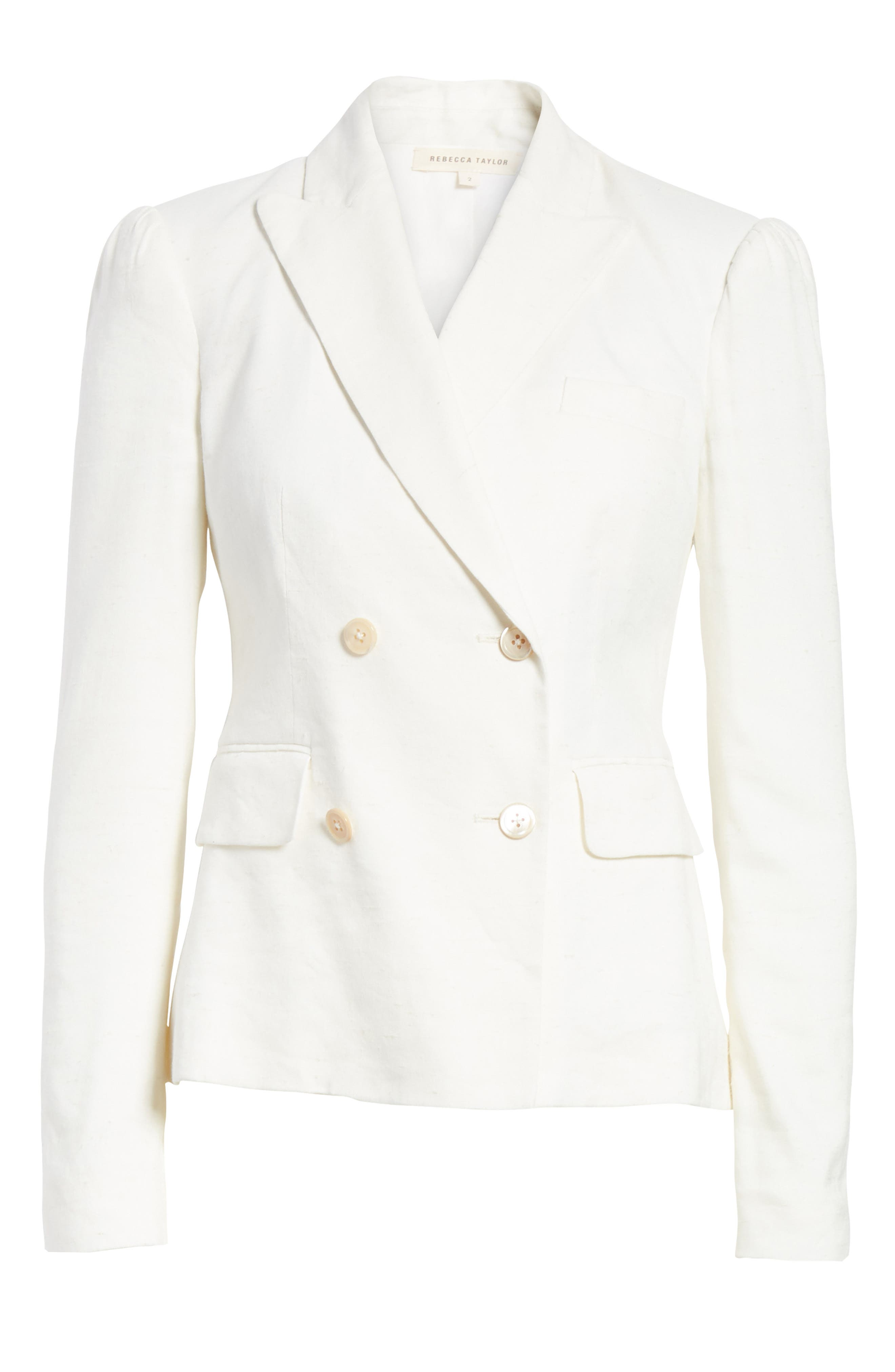 Stretch Linen Blend Blazer,                             Alternate thumbnail 5, color,                             115