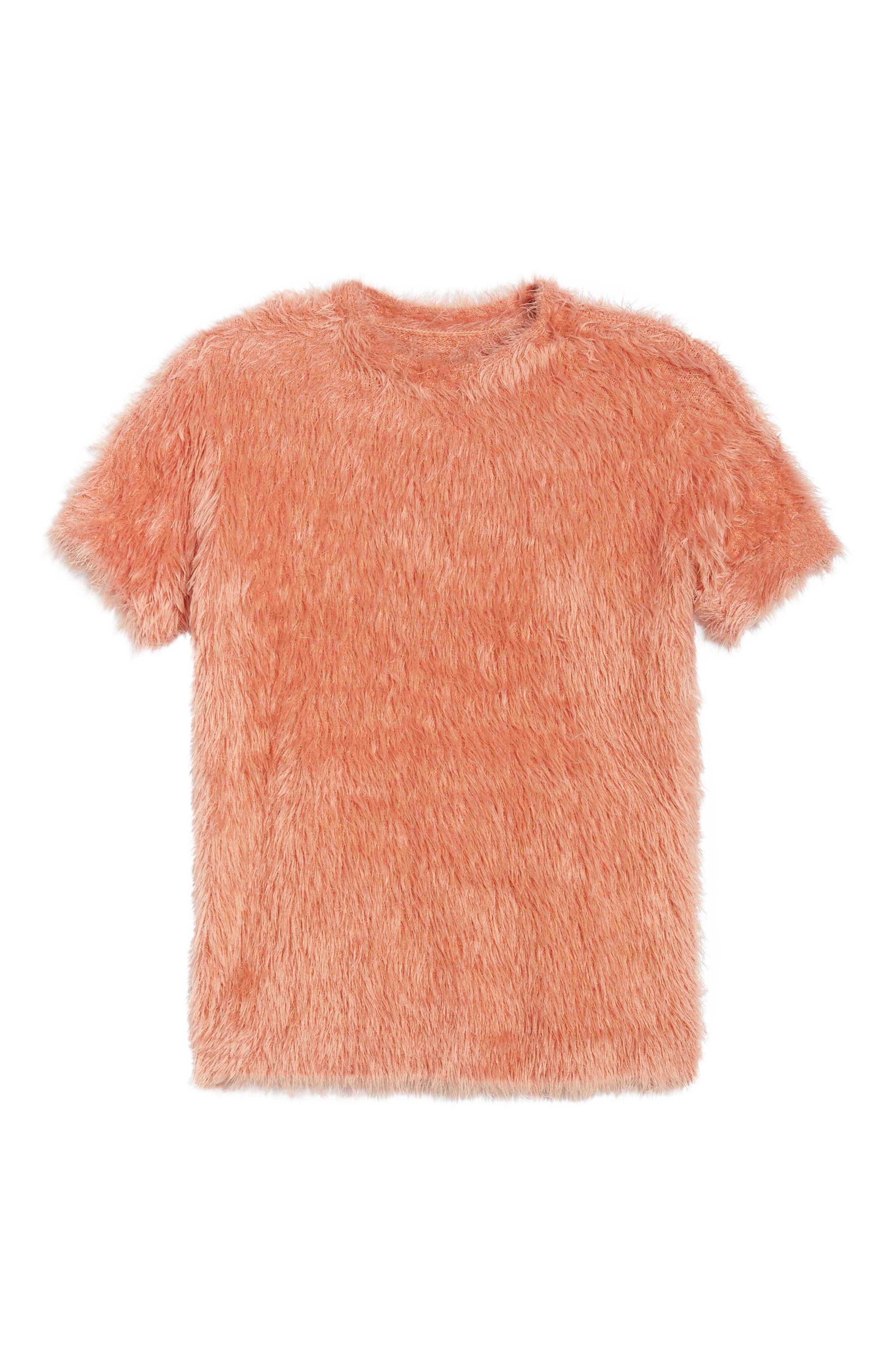 Eyelash Sweater,                             Alternate thumbnail 7, color,                             PINK
