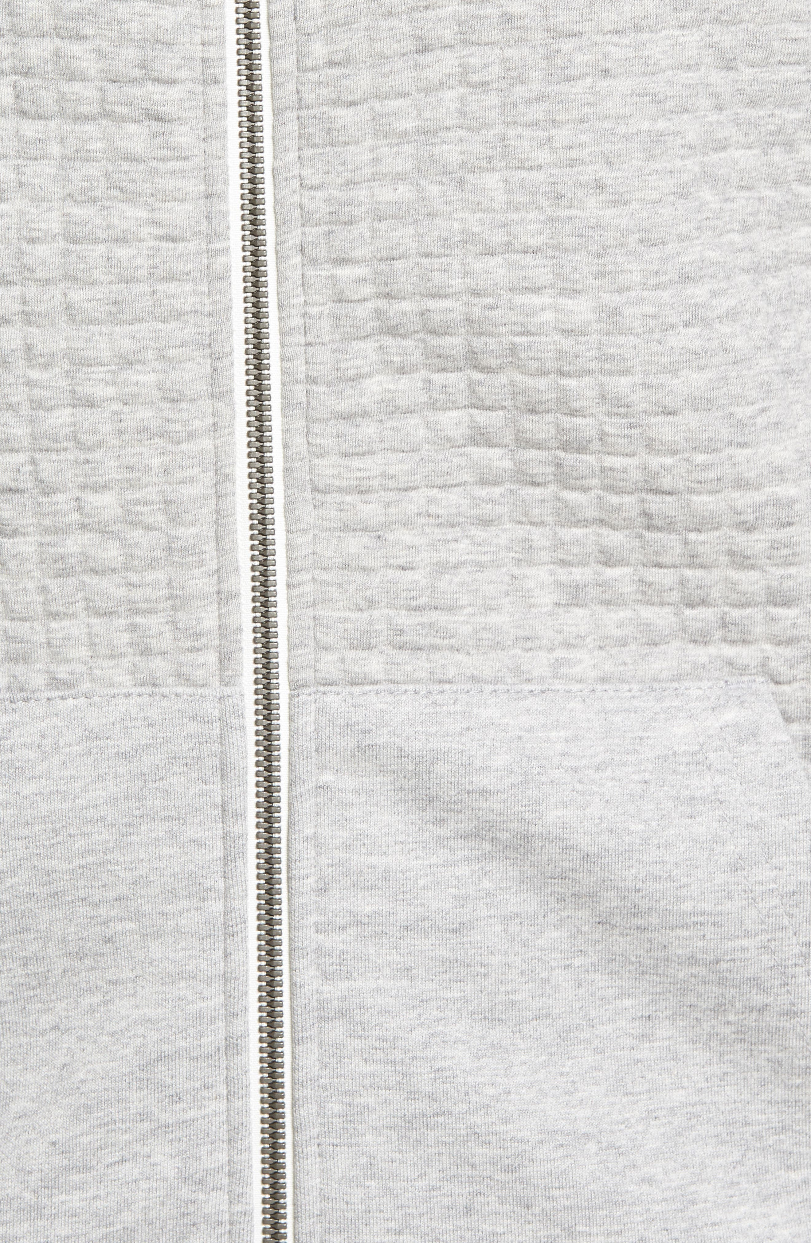 Classic Quilted Zip Hoodie,                             Alternate thumbnail 14, color,