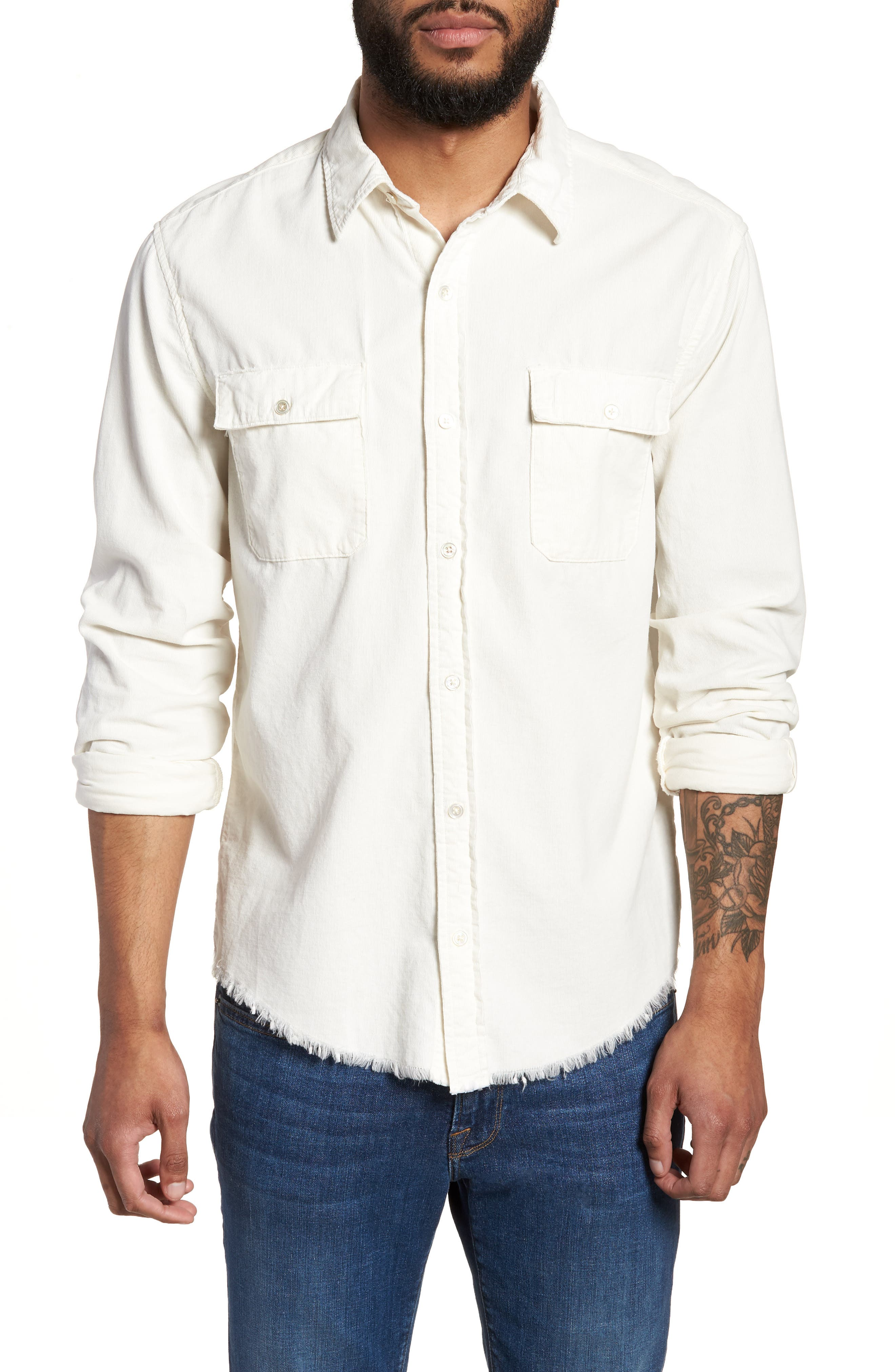 Regular Fit Corduroy Sport Shirt,                         Main,                         color, 120