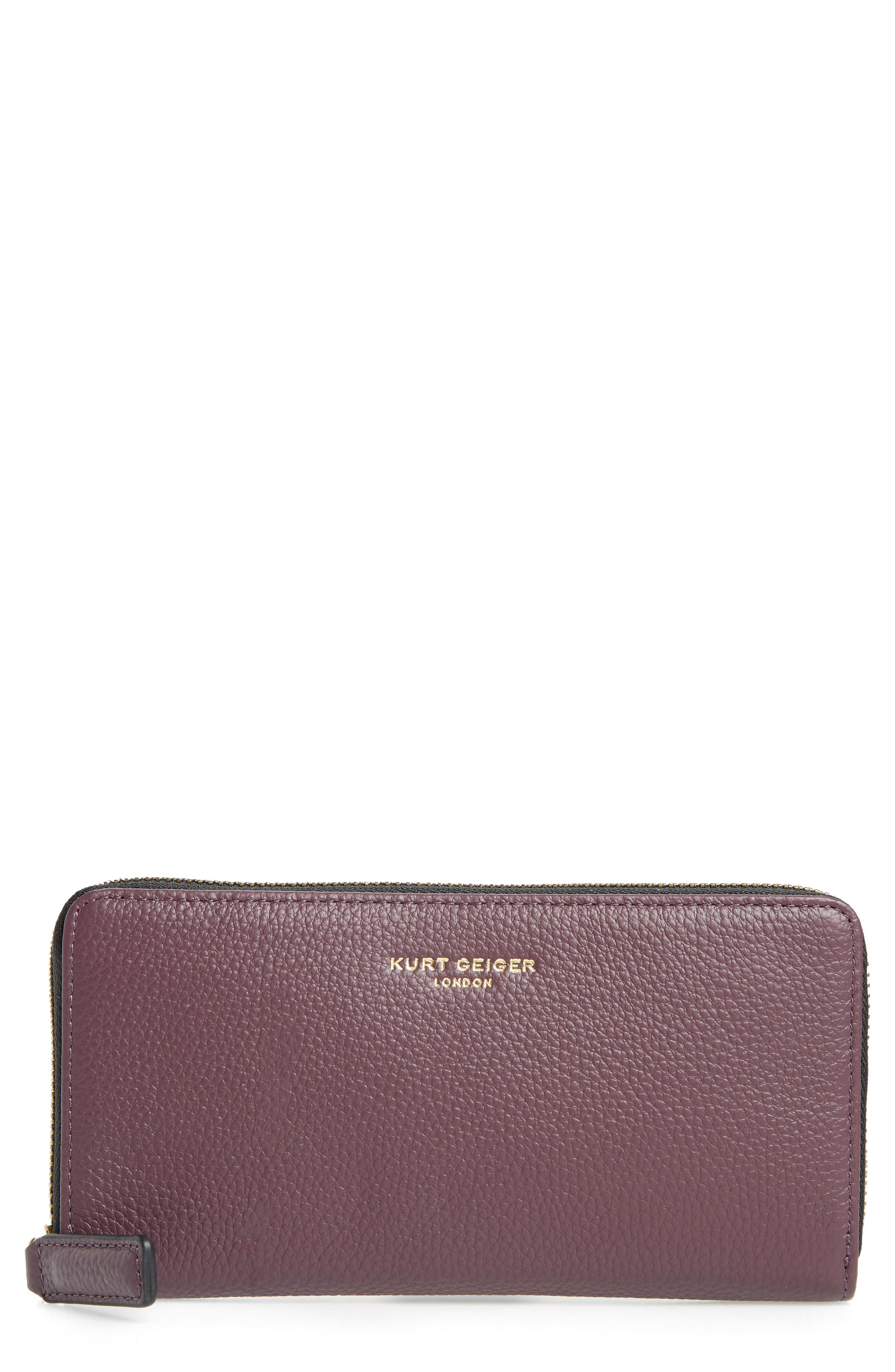 Zip Around Leather Wallet,                             Main thumbnail 4, color,