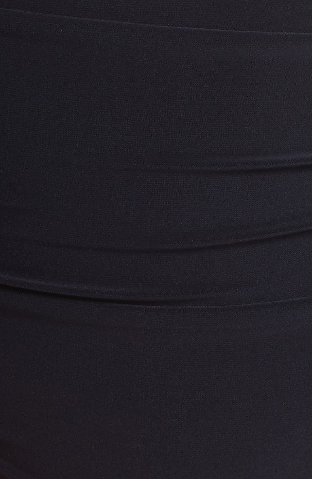 Ruched Bikini Bottoms,                             Alternate thumbnail 5, color,                             BLACK