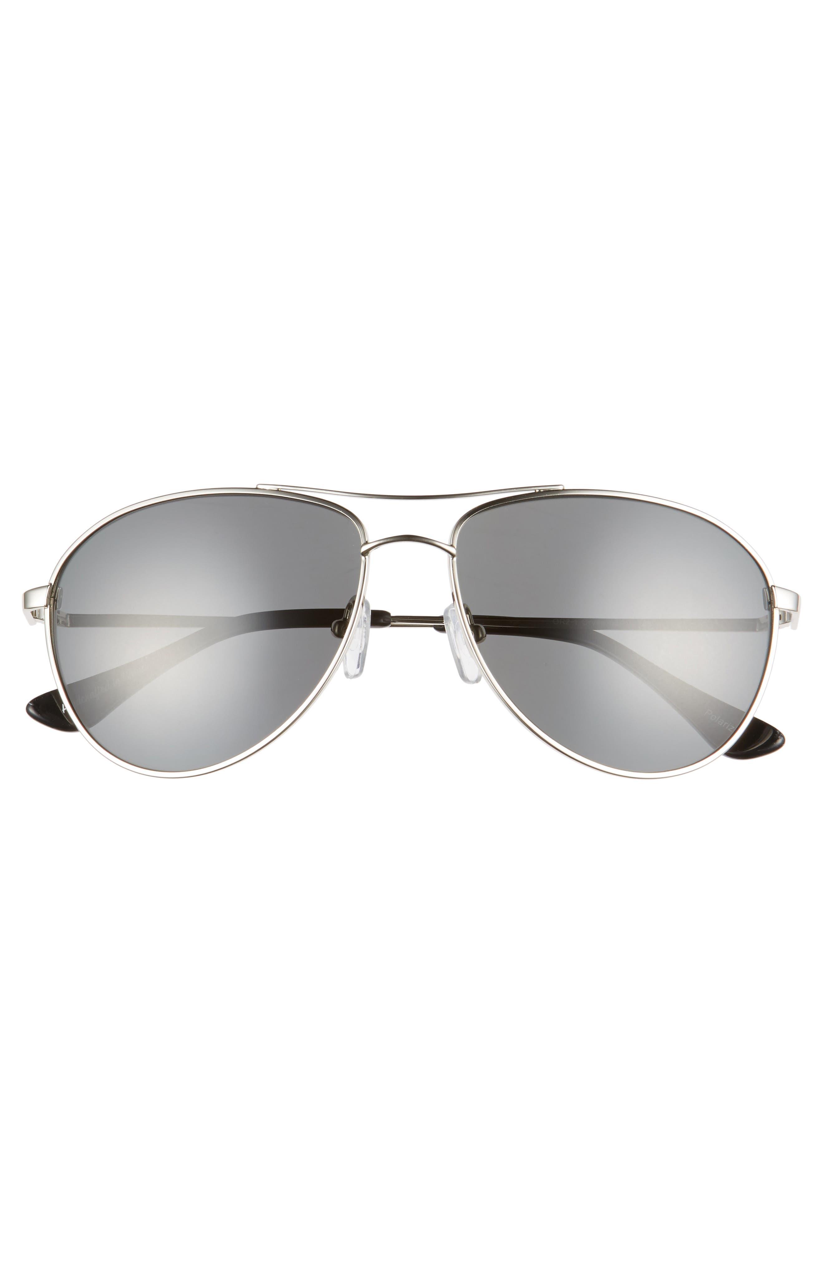 Orville 58mm Polarized Aviator Sunglasses,                             Alternate thumbnail 5, color,