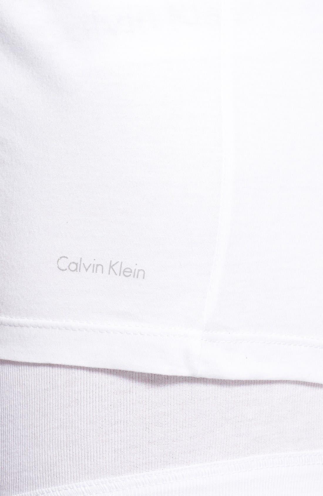 Slim Fit 3-Pack Cotton T-Shirt,                             Alternate thumbnail 4, color,                             WHITE