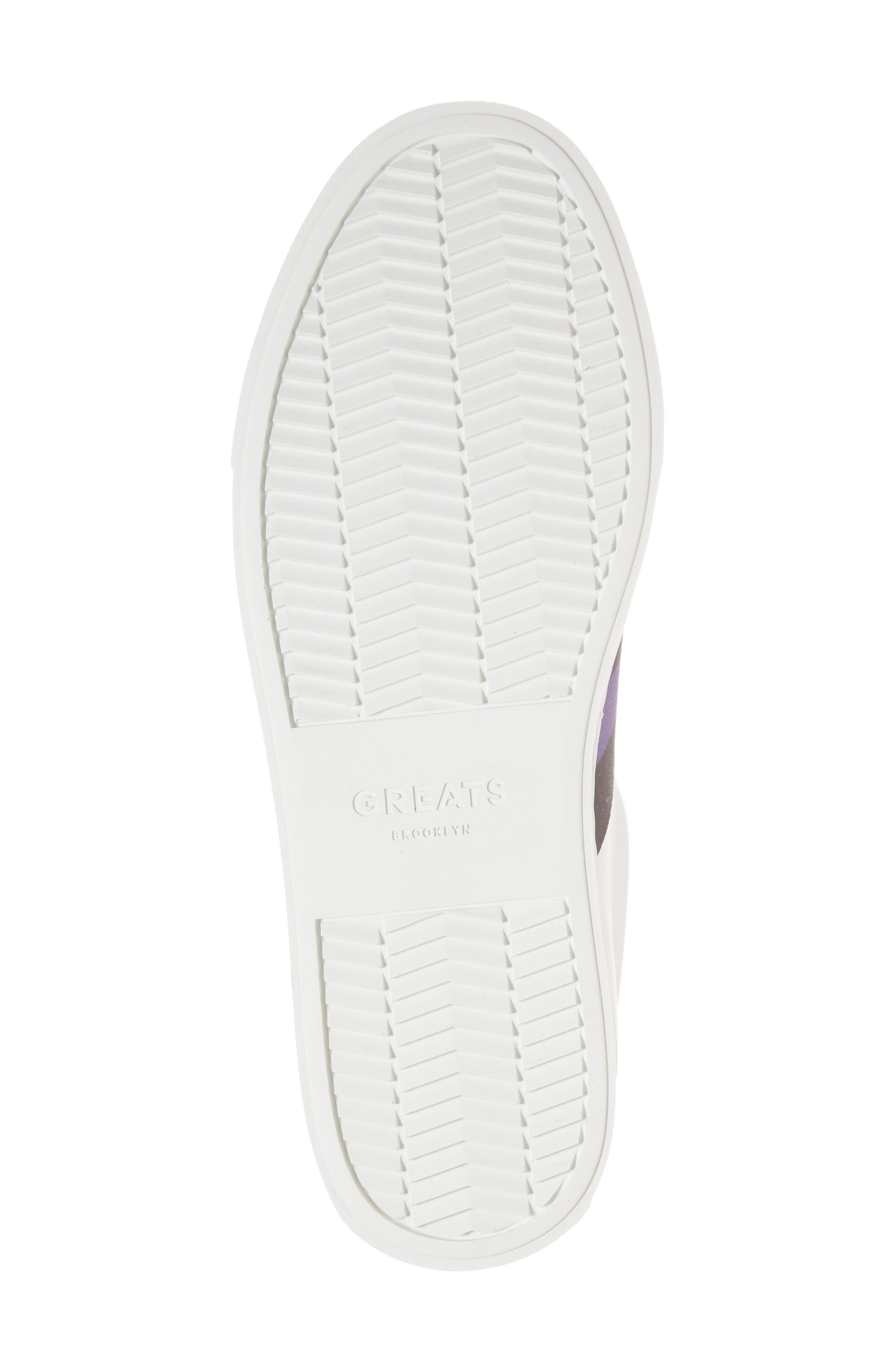 Royale Stripe Sneaker,                             Alternate thumbnail 6, color,                             WHITE/ BLACK/ VIOLET