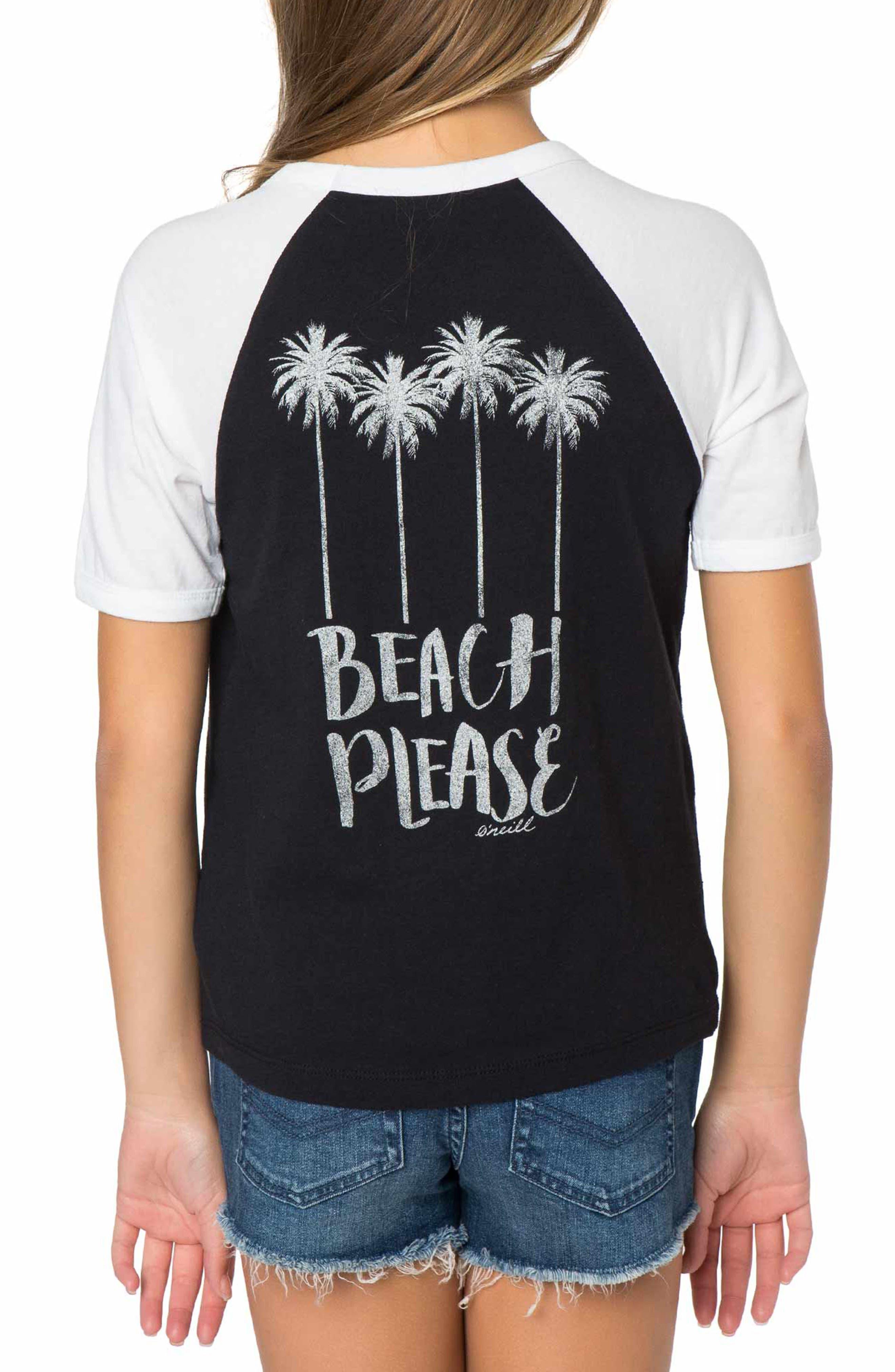 Beach Please Graphic Tee,                             Alternate thumbnail 2, color,                             100