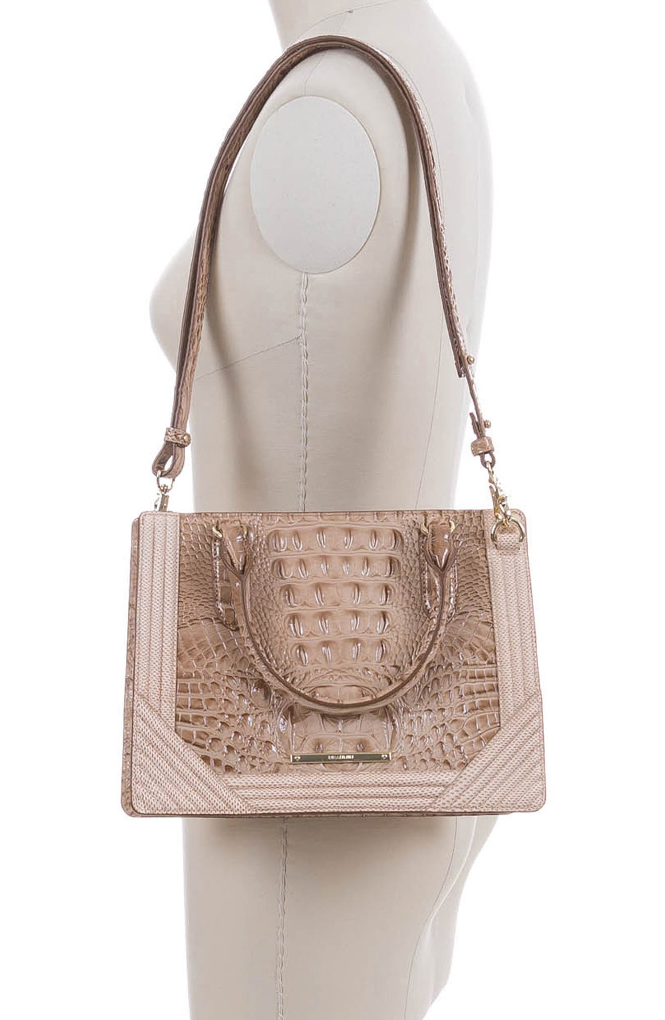 Small Camille Leather Satchel,                             Alternate thumbnail 2, color,                             294