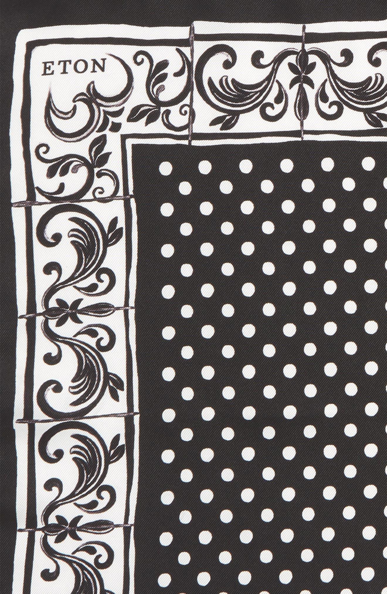 Dot Silk Pocket Square,                             Alternate thumbnail 3, color,                             400