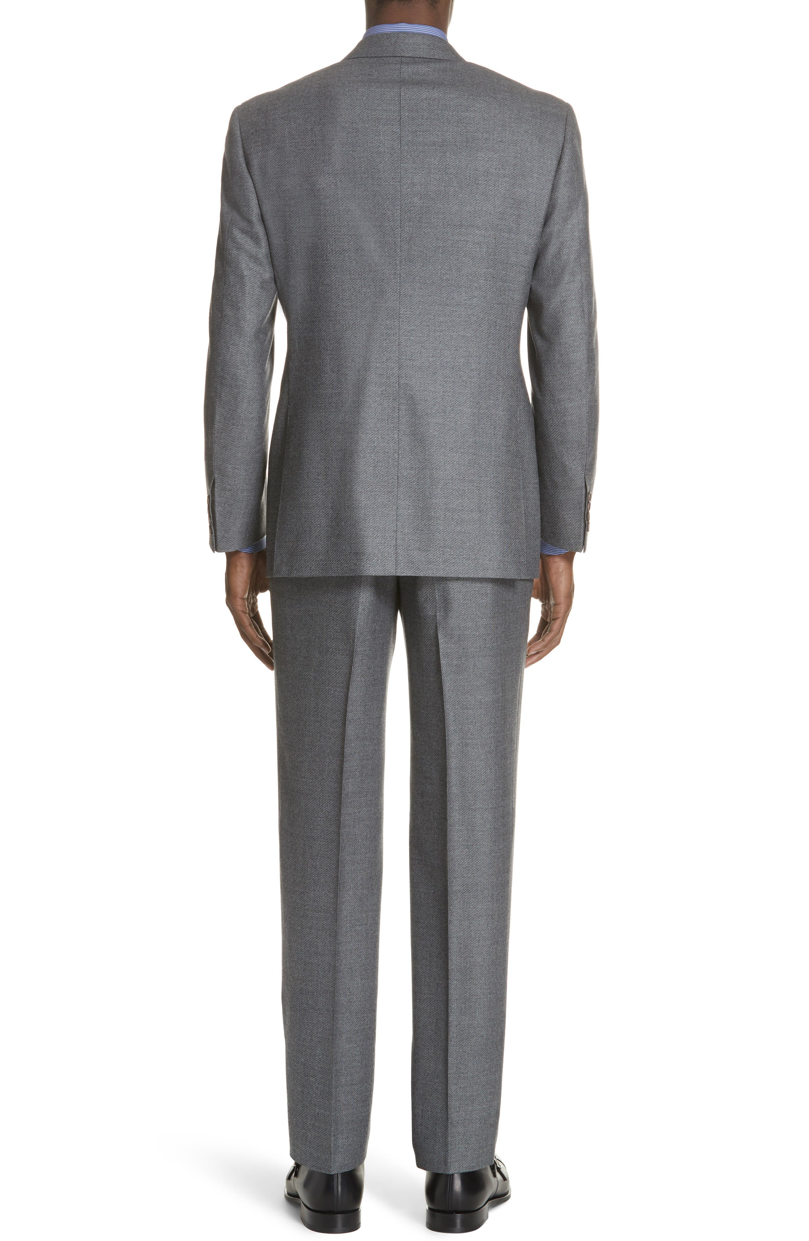 Classic Fit Stretch Solid Wool Suit,                             Alternate thumbnail 2, color,                             MED GREY