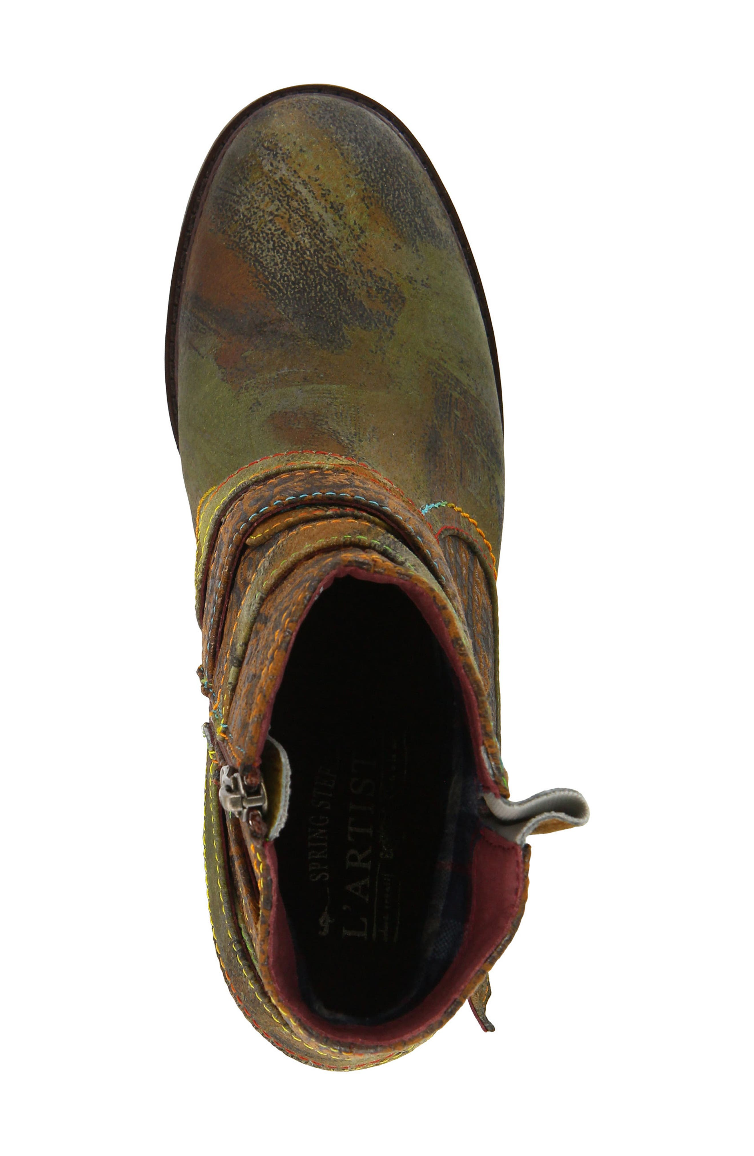 L'Artiste Shazzam Boot,                             Alternate thumbnail 4, color,                             CAMEL LEATHER