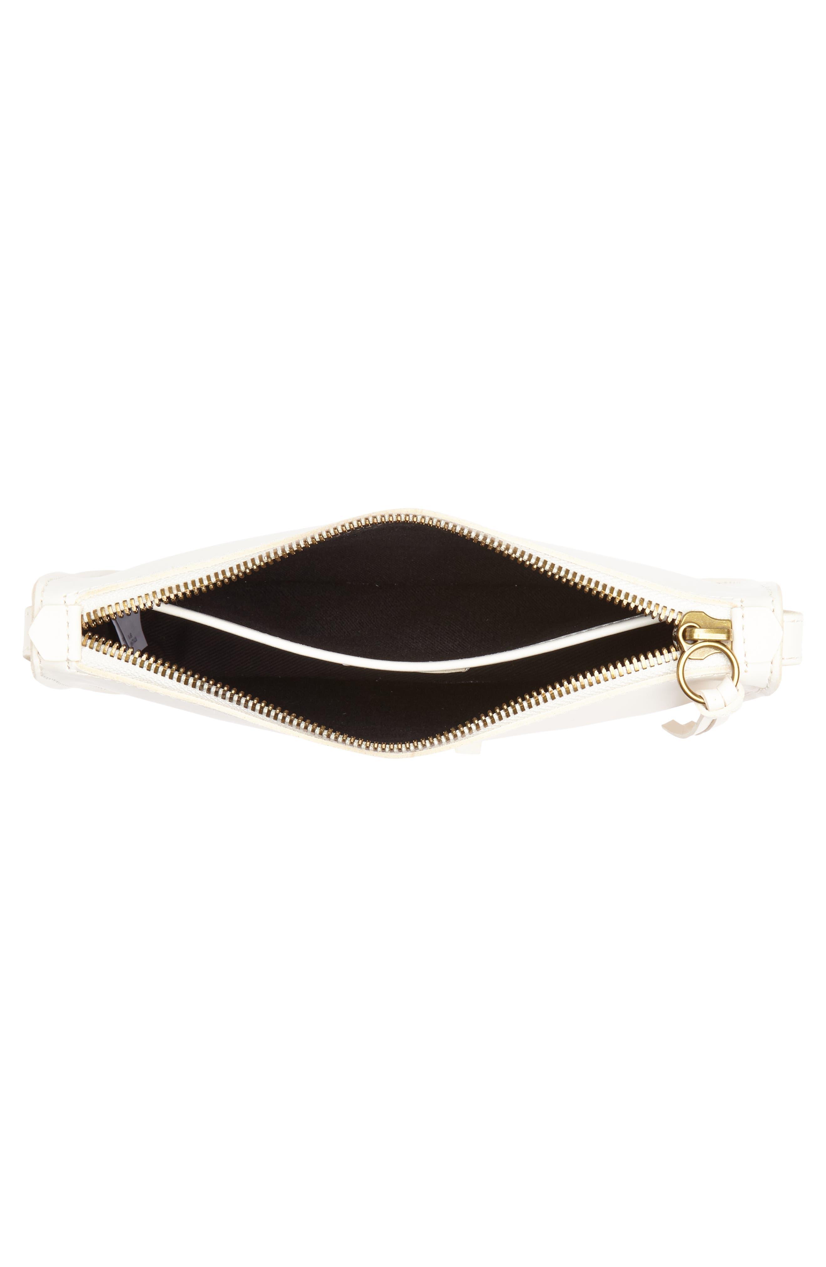 Simple Leather Crossbody Bag,                             Alternate thumbnail 4, color,                             VINTAGE CANVAS